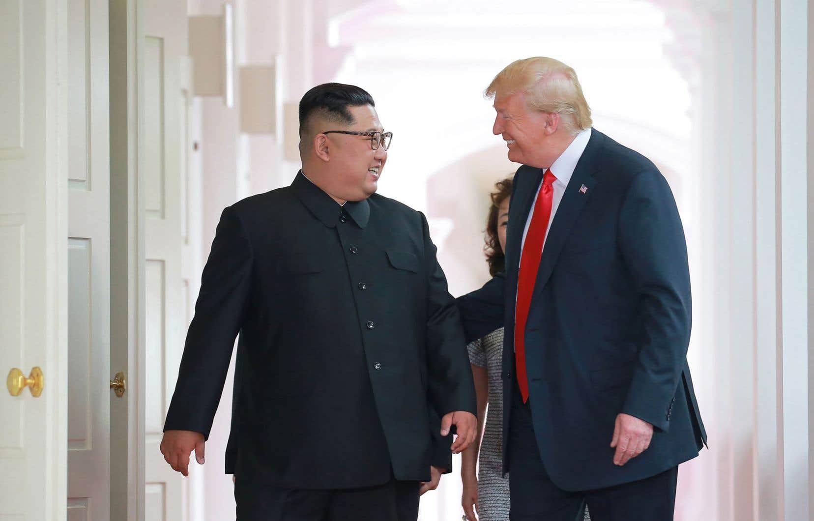 La vidéo de quatre minutes montrée par le président américain au dirigeant nord-coréenmardi lors de leur sommet à Singapour.
