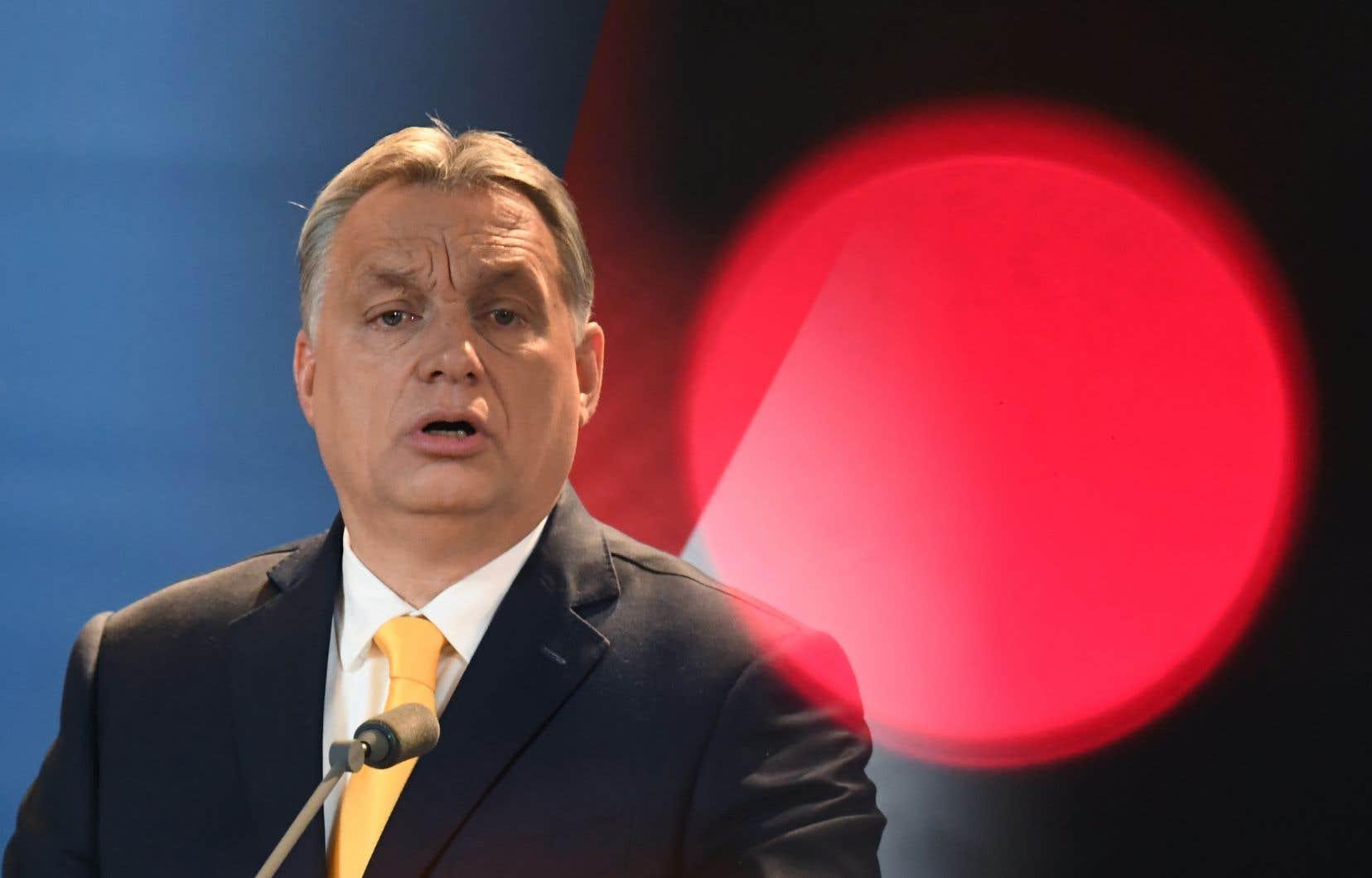 Le premier ministre conservateur de la Hongrie, Viktor Orbán