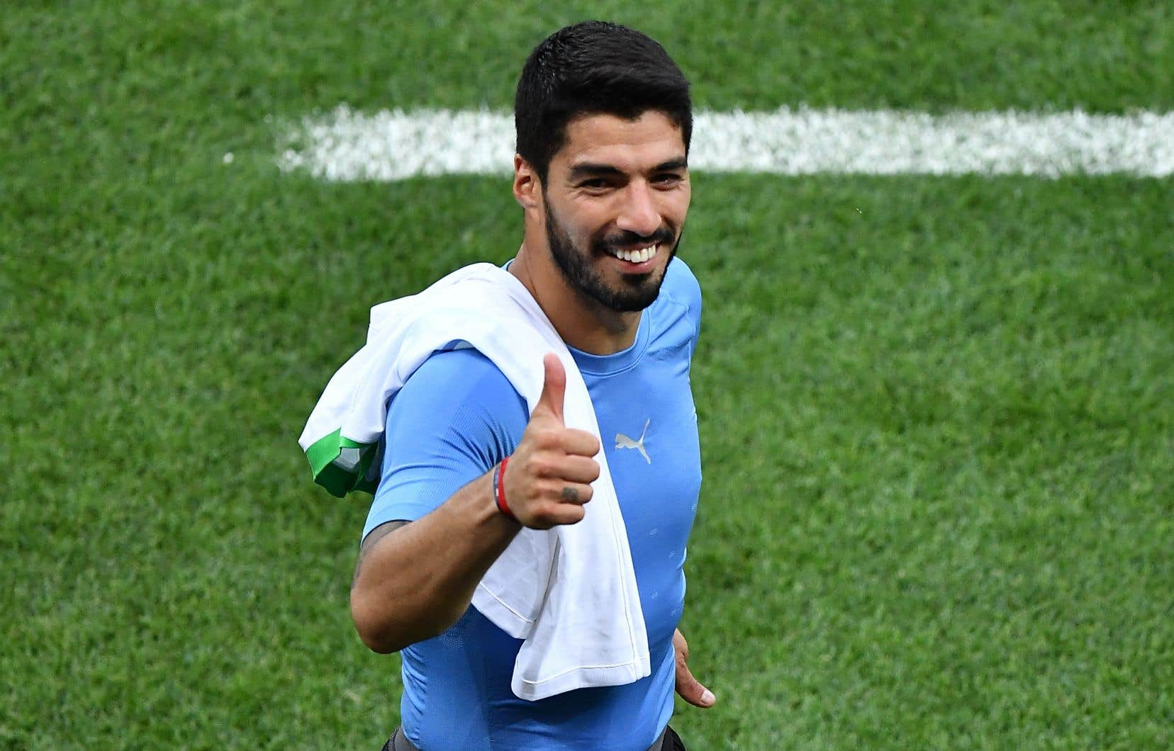 Pour son 100e match en sélection, Luis Suárez a inscrit son 52e but. Le«Pistolero» est devenu du même coup le premier Uruguayen à marquer dans trois Coupes du monde différentes.