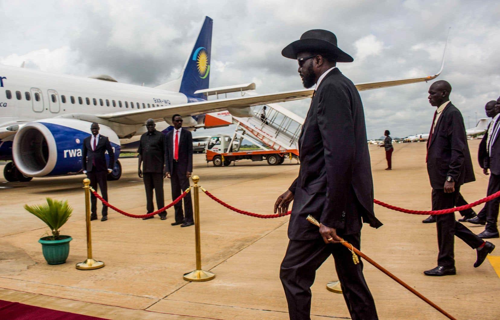 Le président sud-soudanais, Salva Kiir, en route pour Addis-Abeba, en Éthiopie