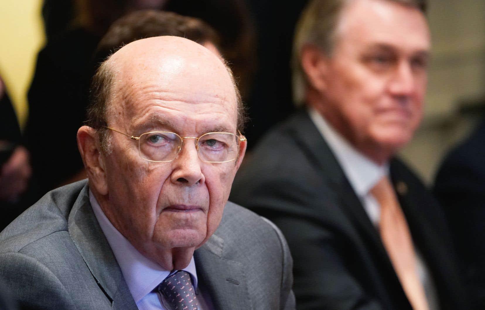 Le secrétaire américain au Commerce,Wilbur Ross, s'est efforcé de relayer le message du président Trump devant des sénateurs en colère.