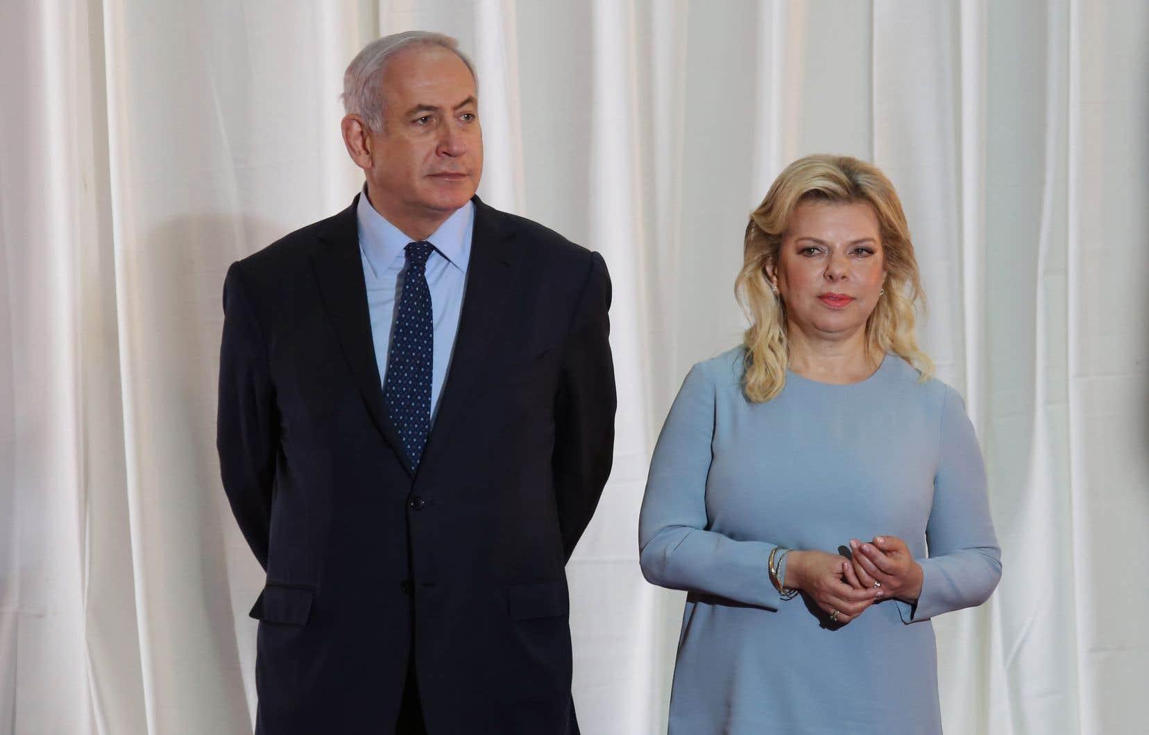 Le premier ministre israélien Benjamin Nétanyahou et son épouse Sara