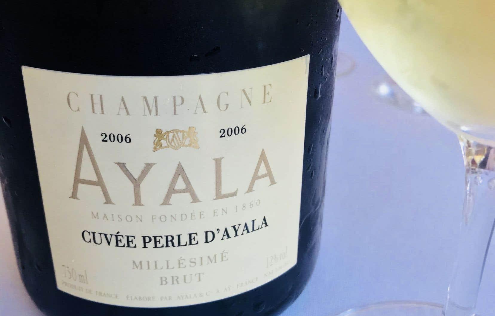 Perle d'Ayala 2006: un satiné en bouche à rendre jalouse une peau de pêche!