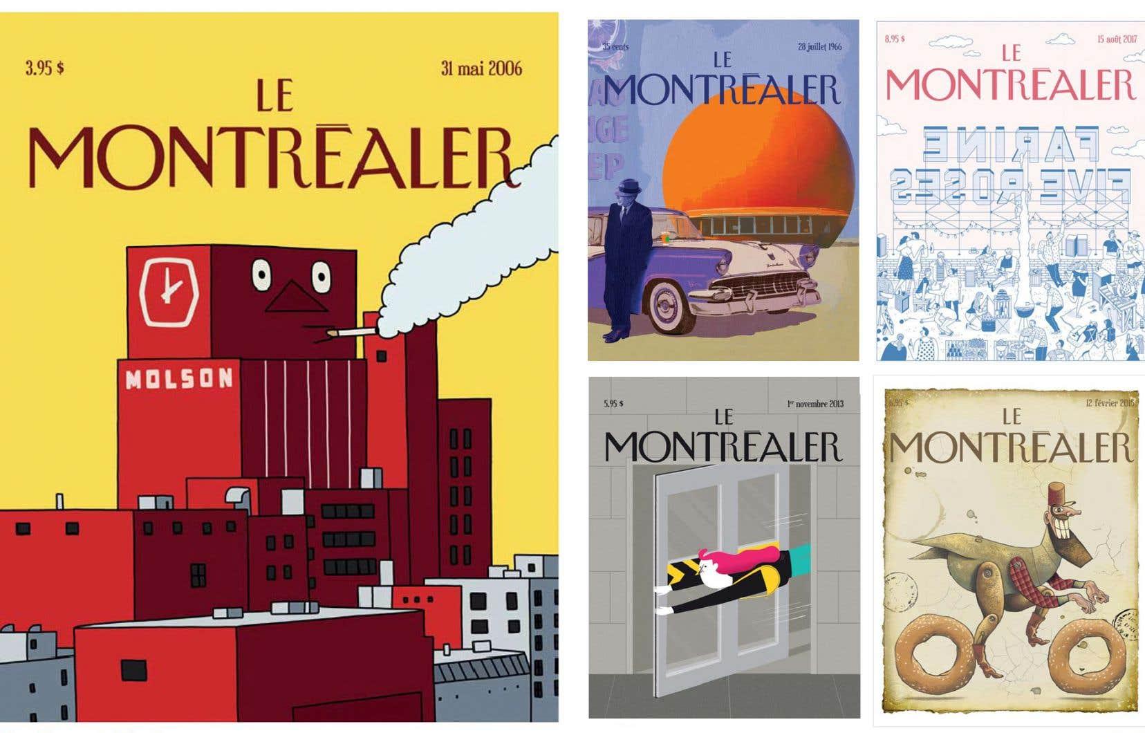 Les couvertures conçues par Diane Obomsawin, Alain Reno, Guillaume Perreault, Marie Mainguy et Pol Turgeon