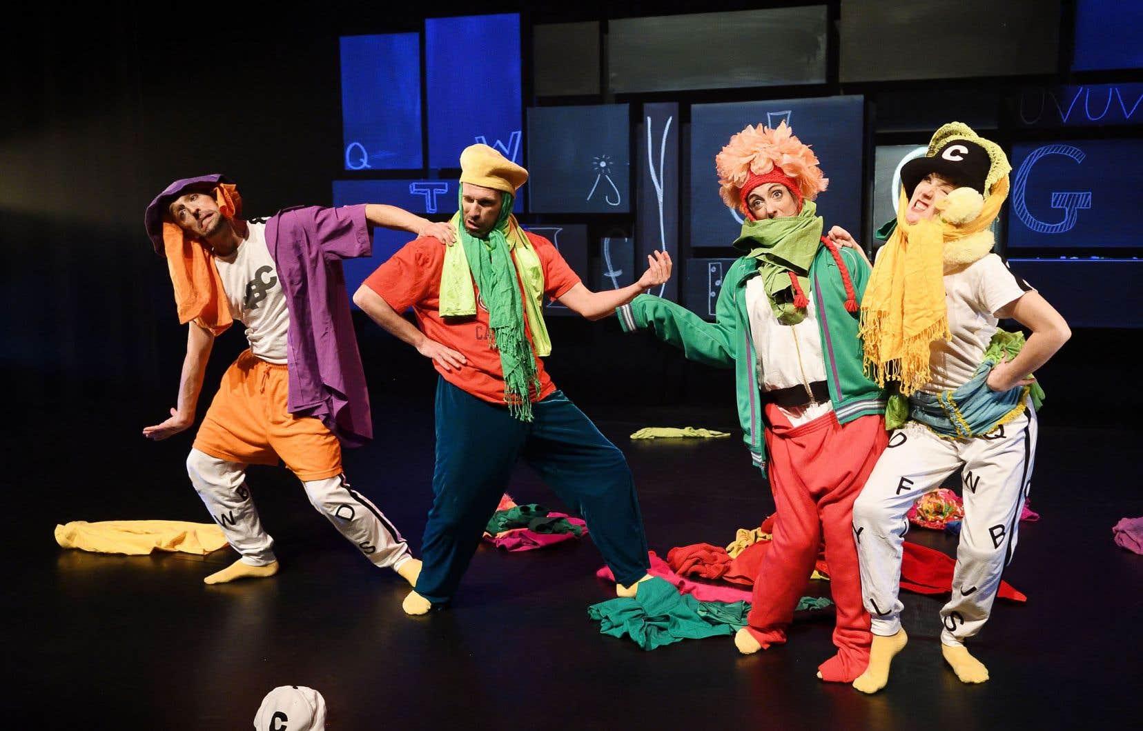Scène du spectacle «26 lettres à danser» de la compagnie de danse Bouge de là