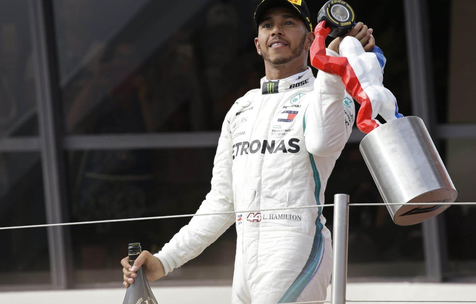 Lewis Hamilton, après sa victoire au Grand Prix de France, dimanche