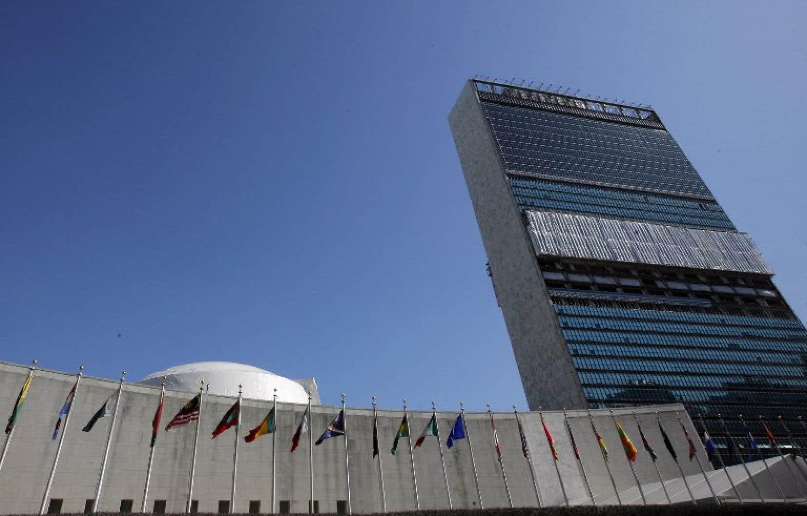 Le bâtiment des Nations unies, à New York