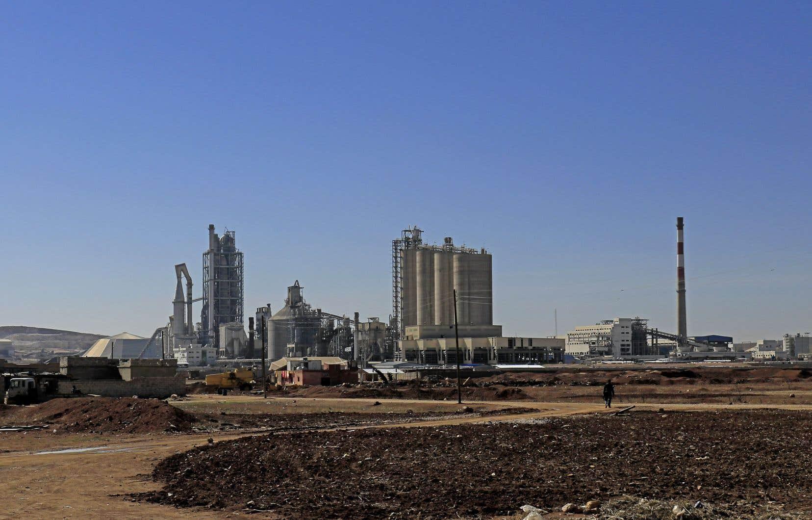 Les installations de Lafarge à Jalabiya, en Syrie