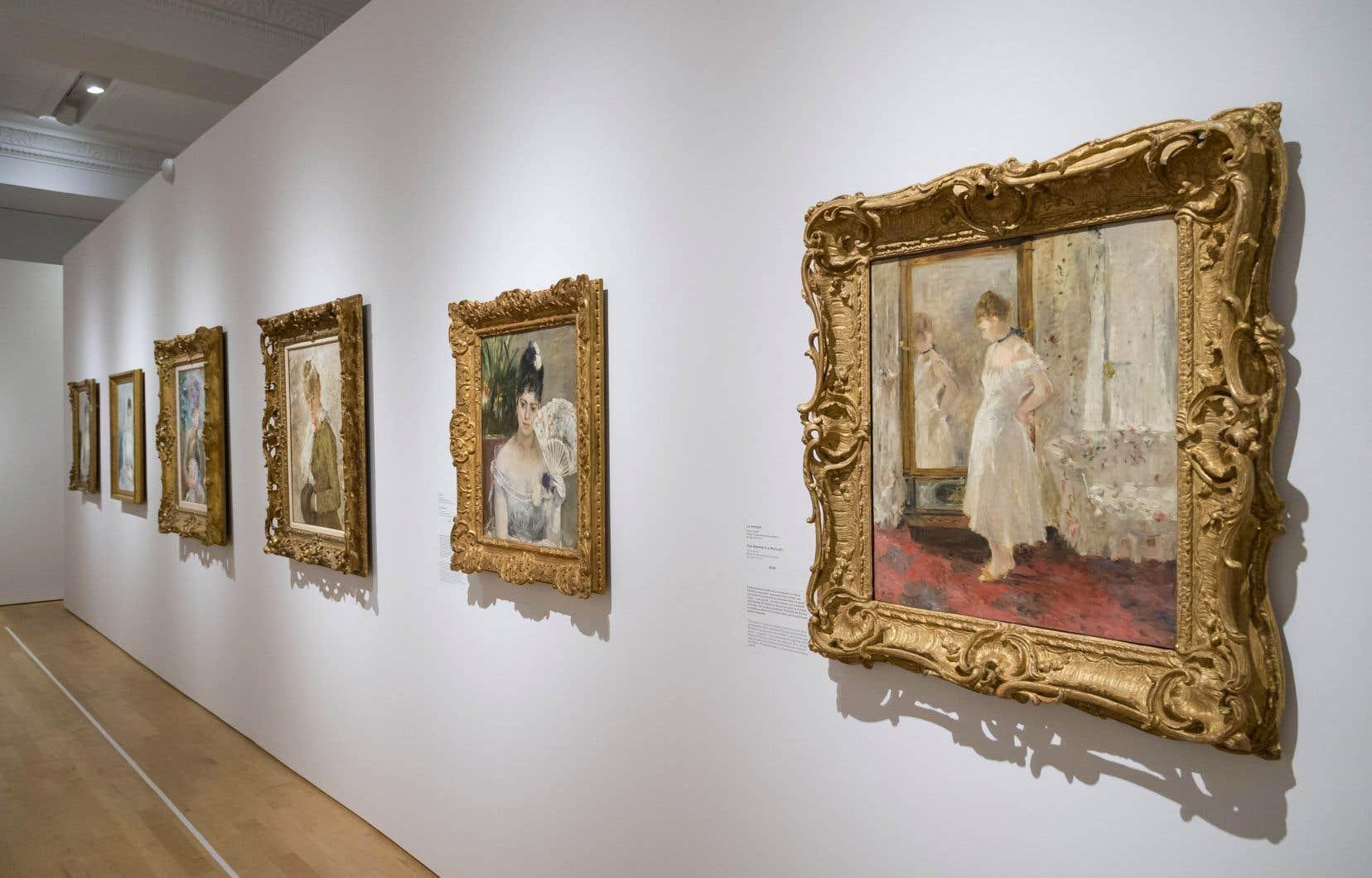 Vue de l'exposition «Berthe Morisot, femme impressionniste»