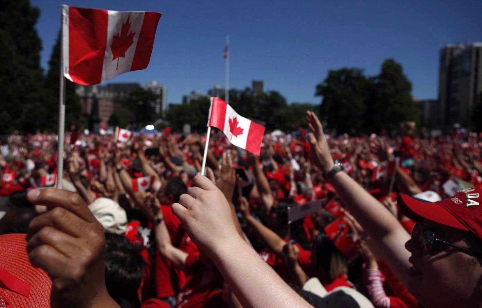 Au total des réponses de tous (francos, anglos et autres), on se retrouve avec un attachement positif du Québec au Canada à hauteur de 77points.