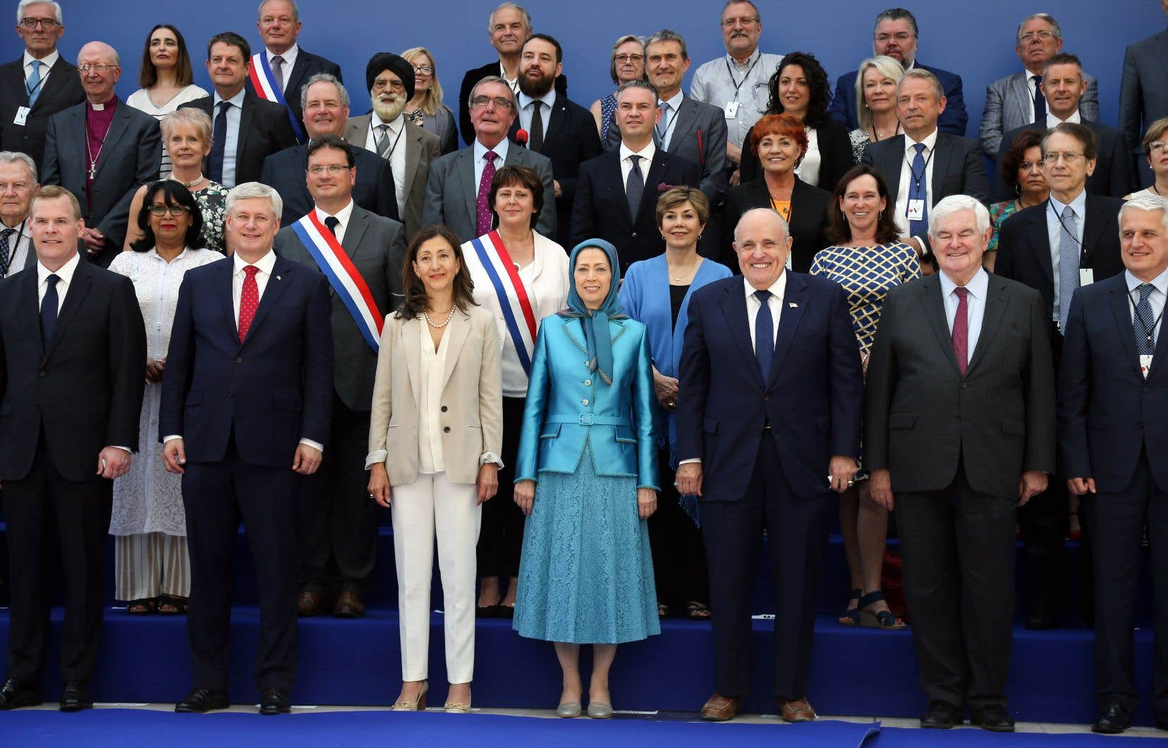 Plusieurs dignitaires ont participé à l'événement qui a eu lieu samedi, notamment l'ancien premier ministre canadien Stephen Harper et l'ex-ministre John Baird.