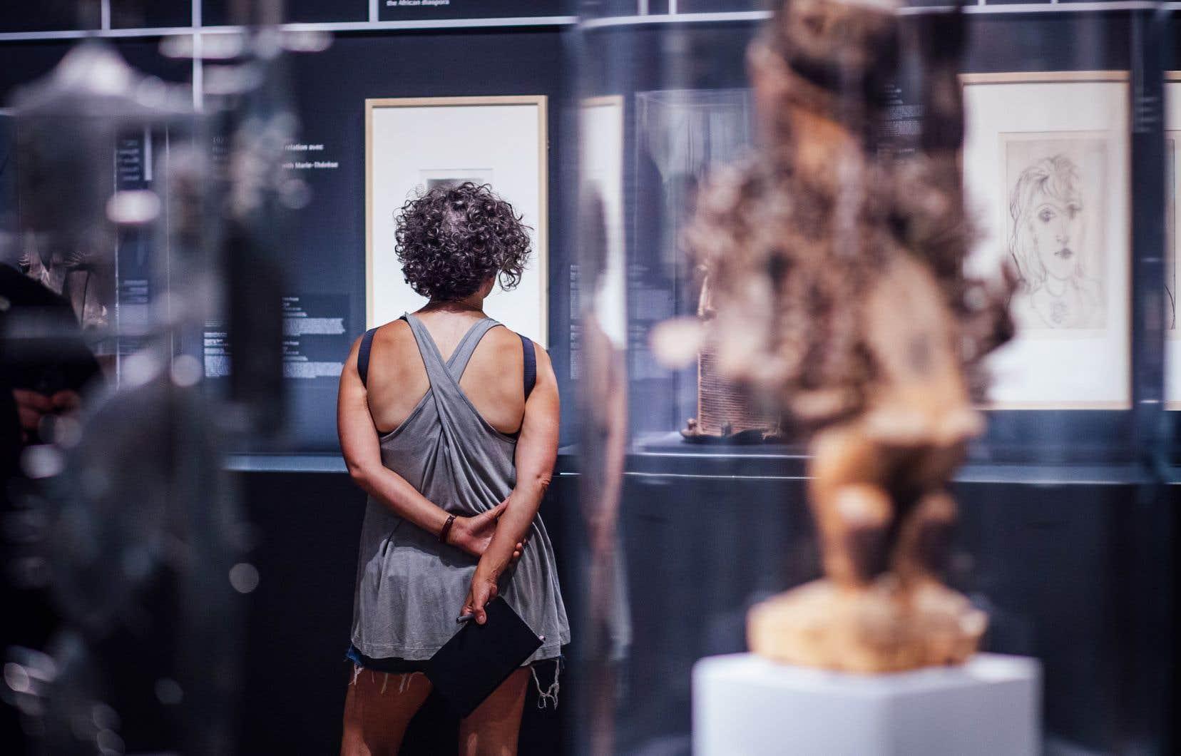 Vue de l'exposition consacrée à Picasso et à l'art africain au MBAM