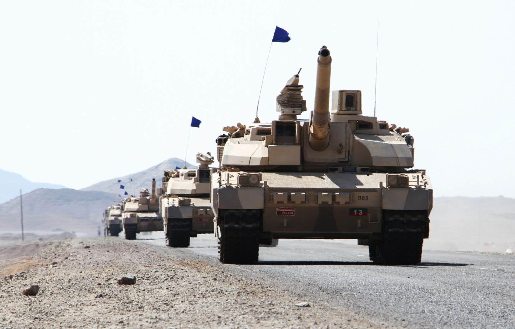 <p>Les livraisons d'armement français dans cette région se sont élevées sur la période à 3,4milliards d'euros (5,2milliards $CAD), soit plus de la moitié du montant total livré dans le monde (6,7milliards d'euros ou 10,2milliards $CAD).</p>