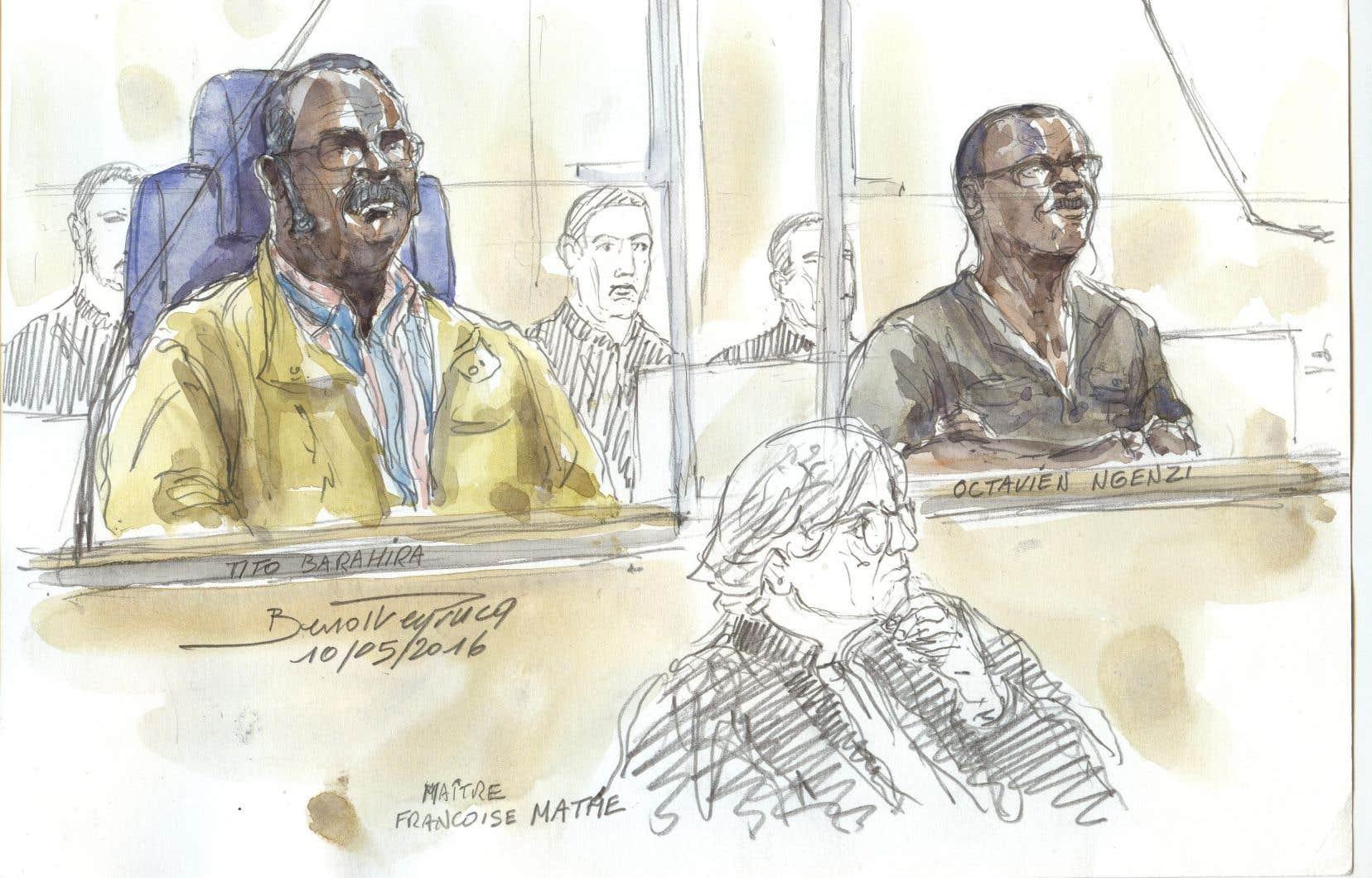 Tito Barahira, 67 ans, et Octavien Ngenzi, 60 ans, ont été jugés coupables de «crimes contre l'humanité».