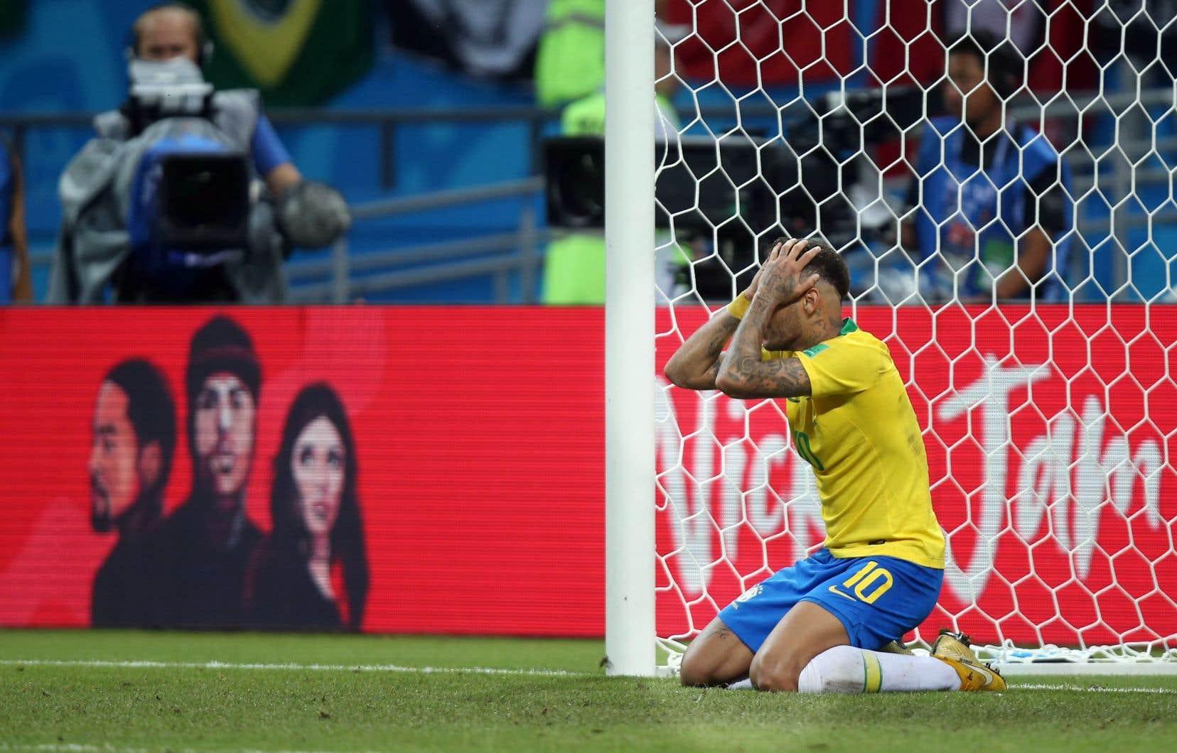 Le joueur brésilien Neymar durant le match contre la Belgique