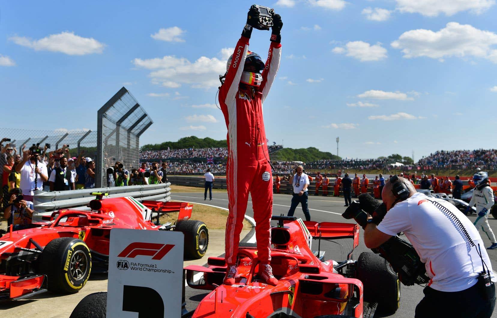 L'Allemand de Ferrari Sebastian Vettela remporté le Grand Prix de Grande-Bretagne dimanche.