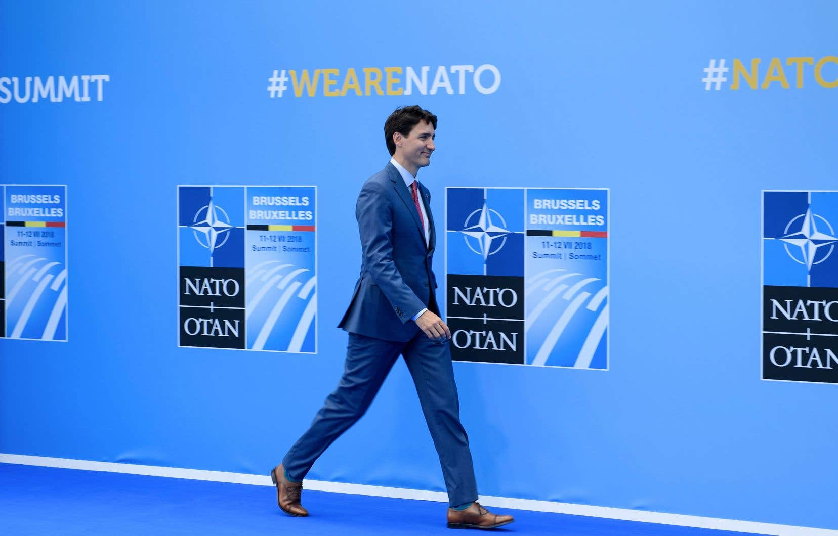 Justin Trudeaua répété que le Canada a promis de renverser le déclin de ses dépenses militaires et de tendre vers l'objectif du 2 % du PIB.