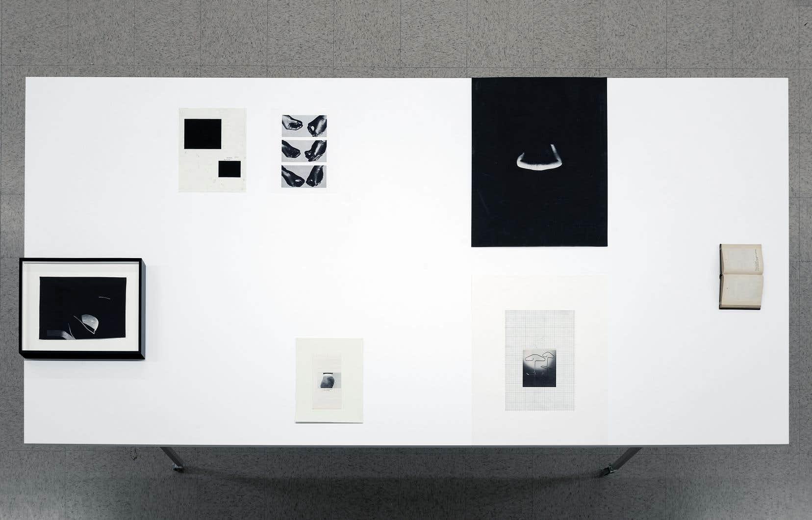 Vue de l'exposition «Room(s) to move: je, tu, elle», de Sophie Jodoin, au Musée d'art contemporain des Laurentides