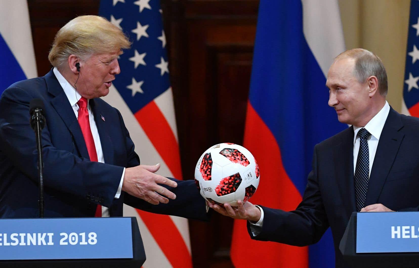 Les présidentsDonald Trump et Vladimir Poutine