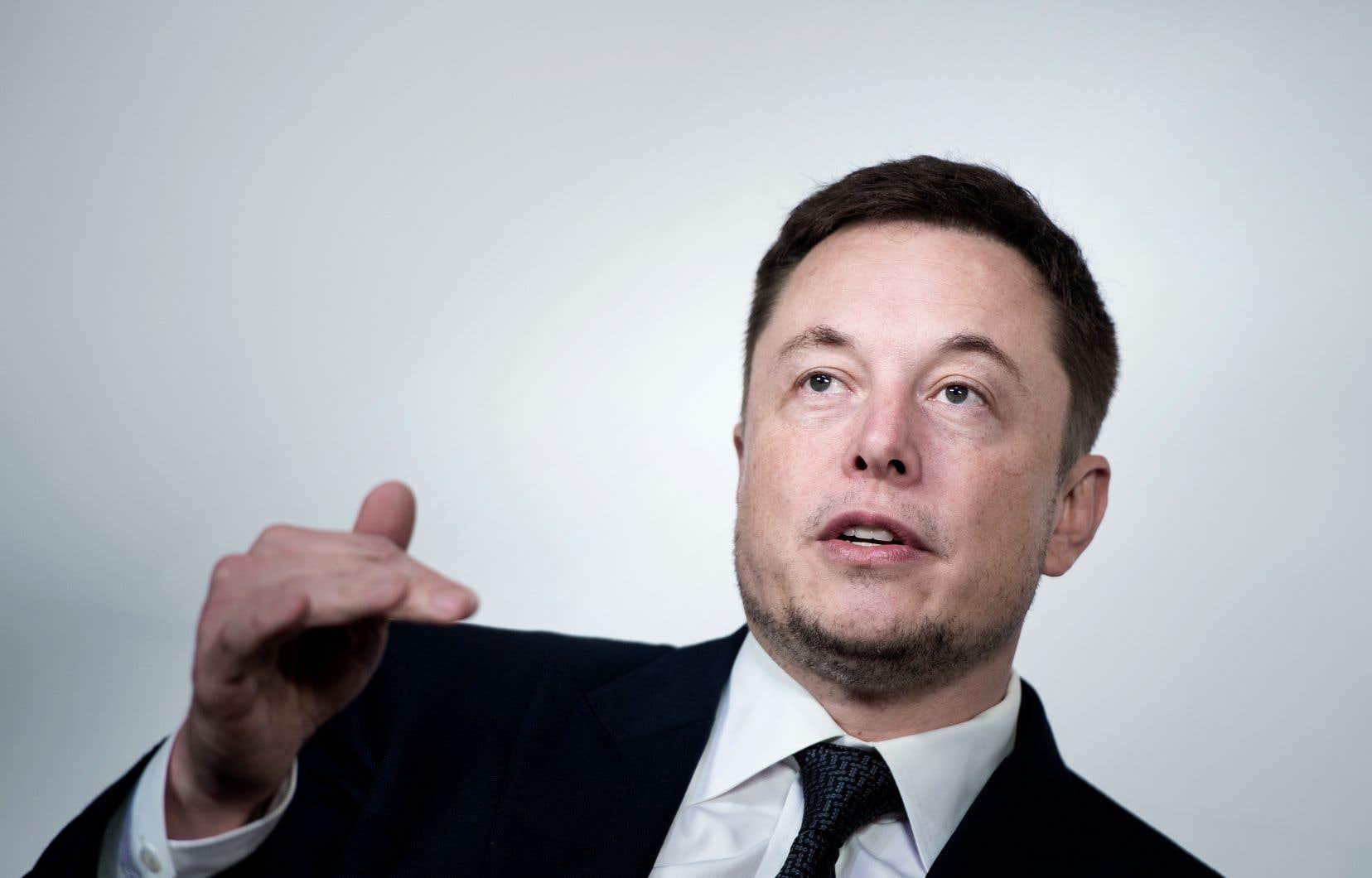 Le p.-d. g. du groupe américain Tesla, Elon Musk