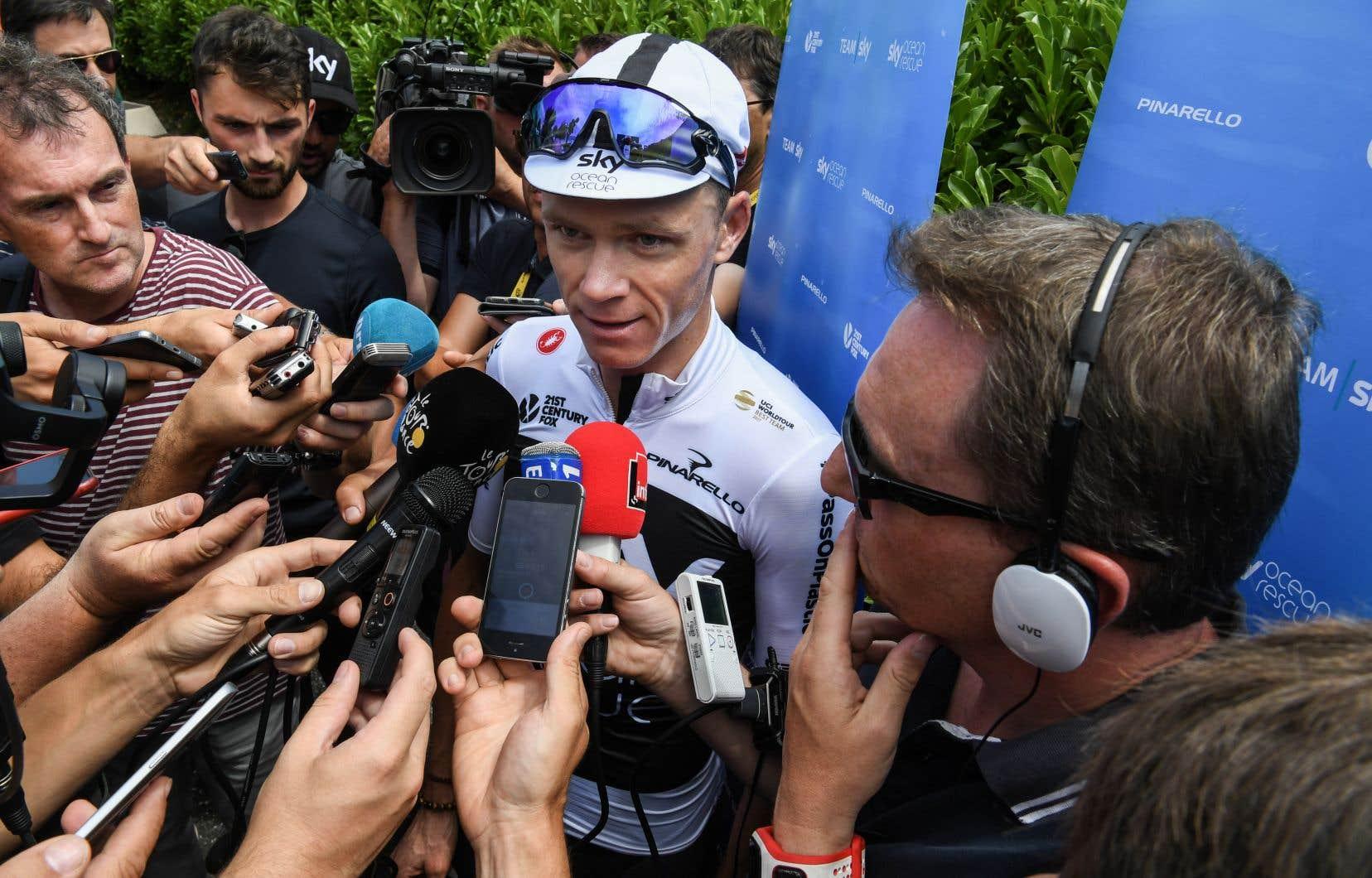 «Je mesens bien et optimiste en vue des prochaines étapes», a déclaré le quadruple champion Chris Froome, lundi, première journée de repos du Tour.