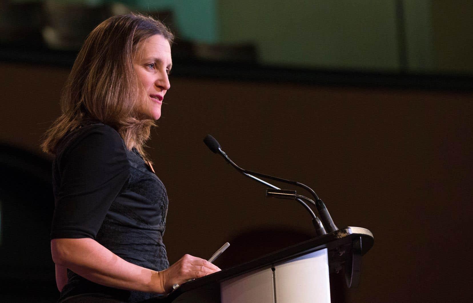 La réunion canadienne avait été promise par Chrystia Freeland et son homologue de l'Union européenne, Frederica Mogherini, le printemps dernier.