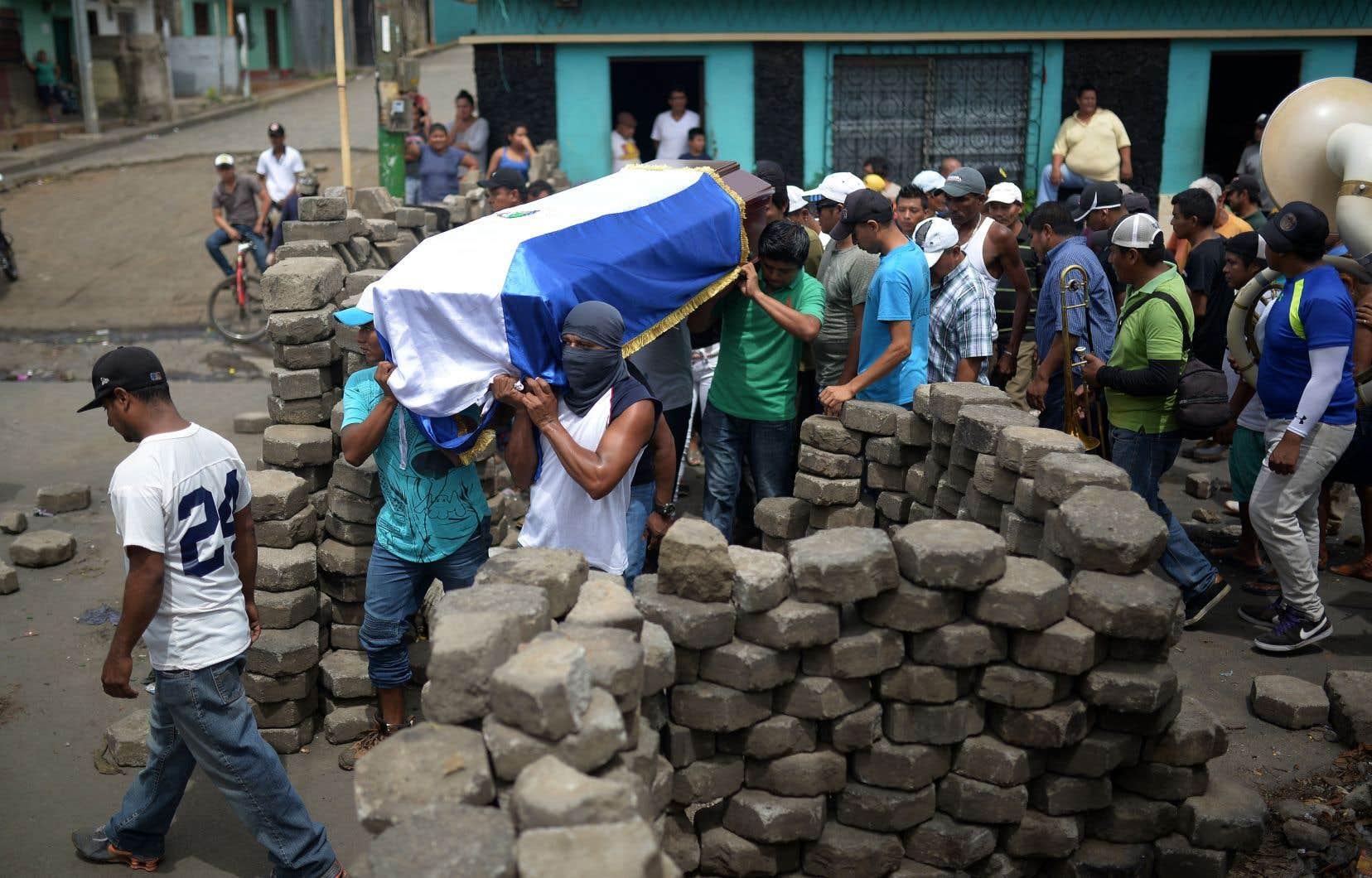 Des manifestations violemment réprimées ont fait des centaines de morts au Nicaragua, comme ici à Masaya.