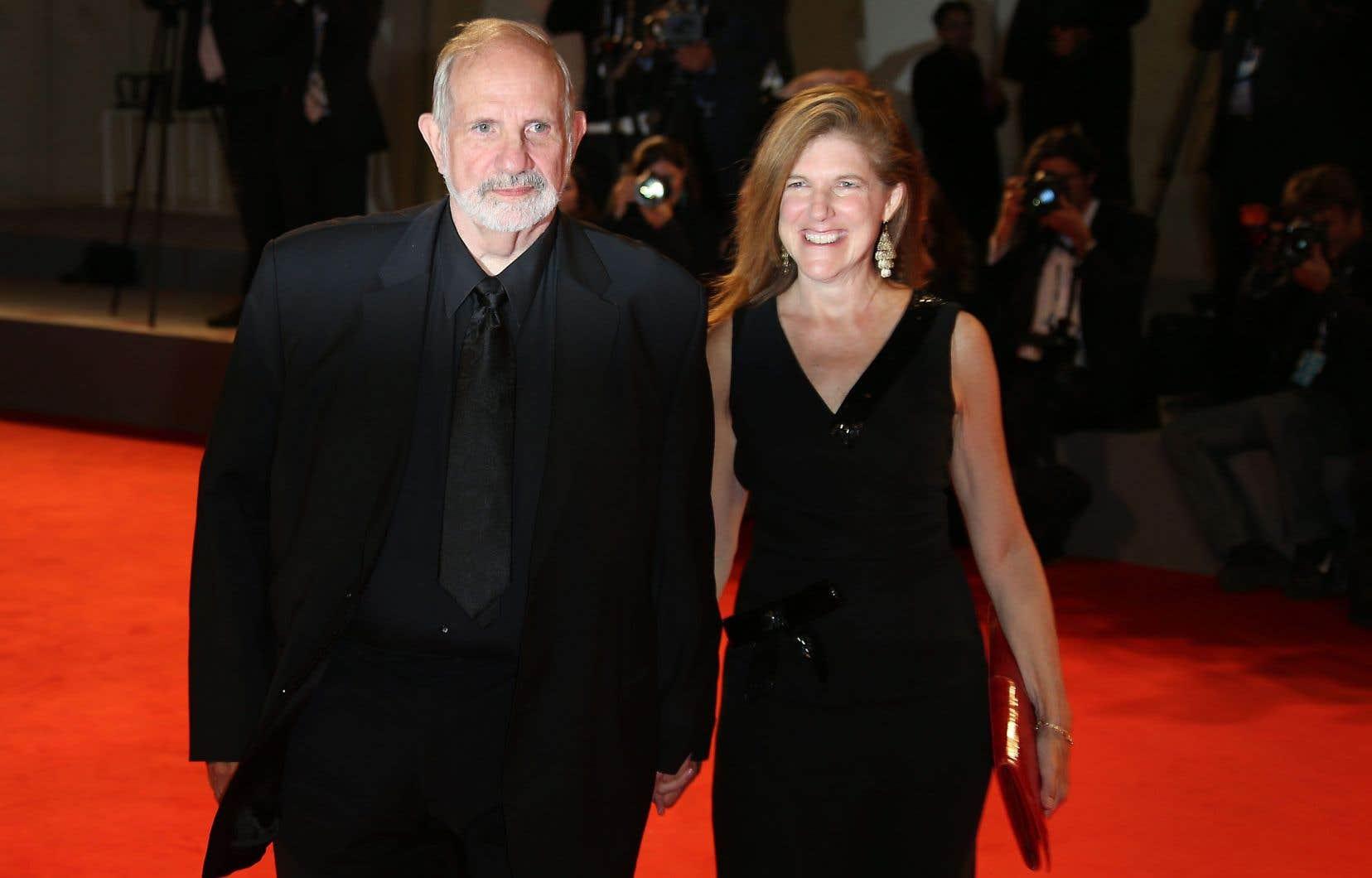 Brian De Palma, à gauche, en 2015
