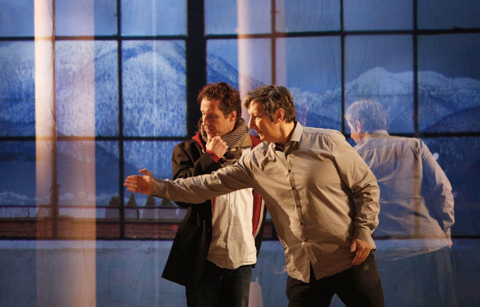 Robert Lepage, lors des répétitions du spectacle «Kanata»