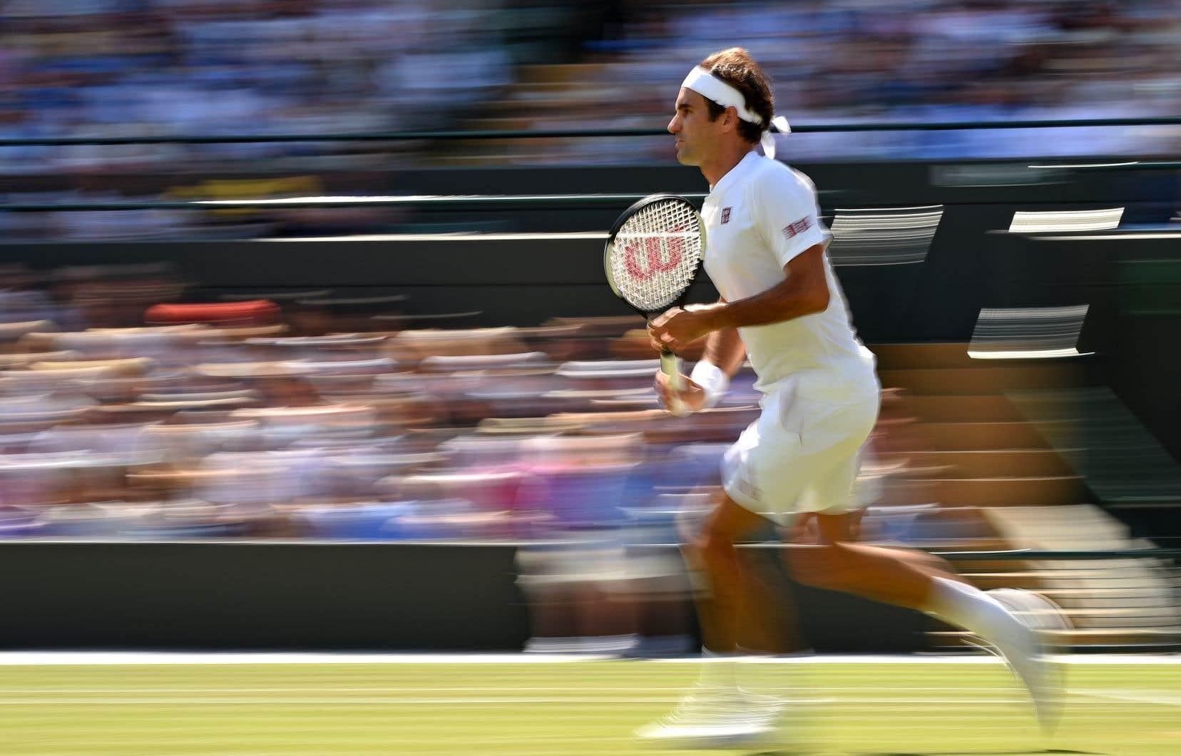 L'octuple champion de Wimbledon Roger Federer a considérablement allégé son horaire de travail.