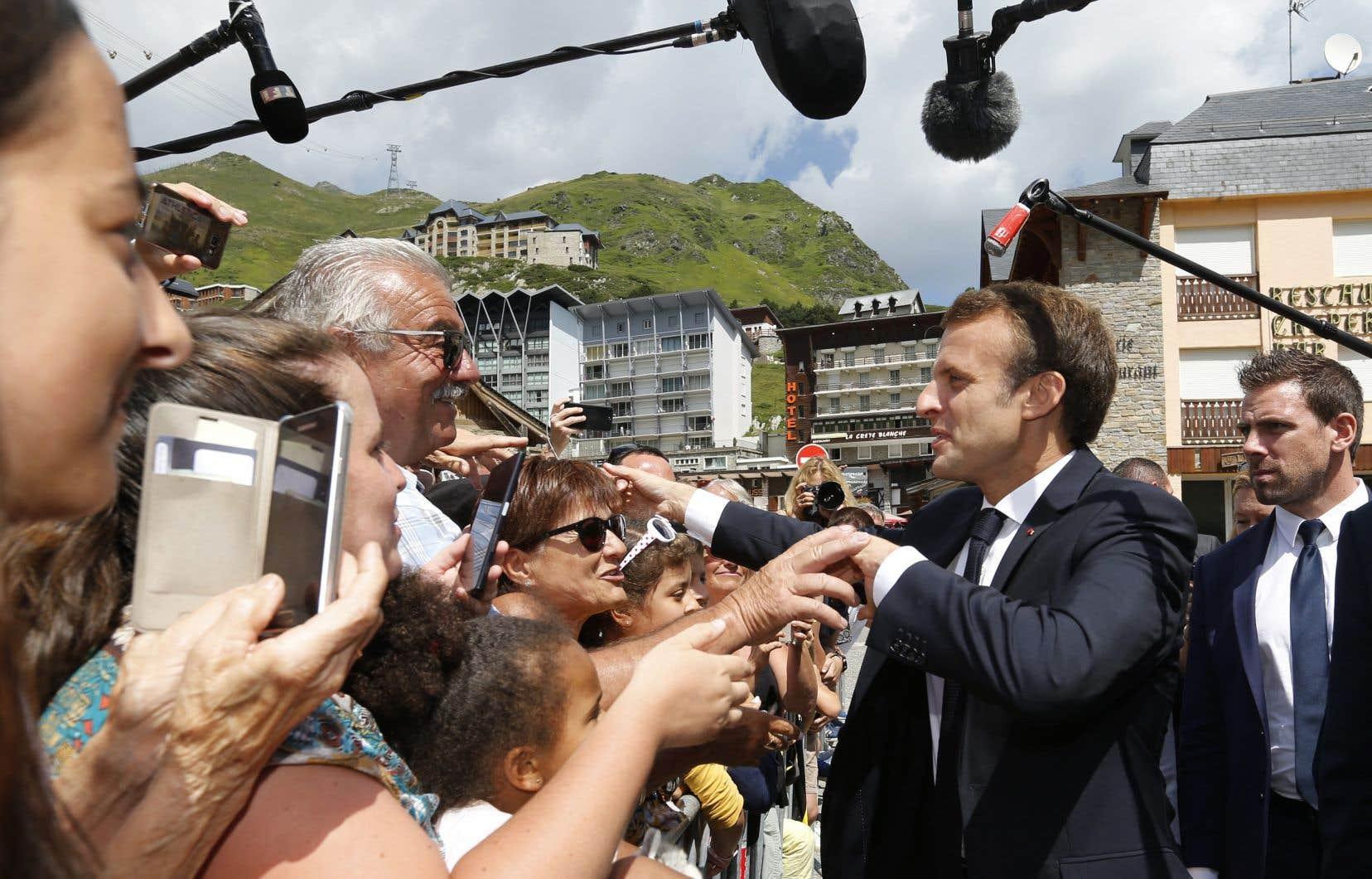 Lors d'un déplacement dans le sud-ouest de la France, Emmanuel Macron est resté campé sur sa ligne: «J'ai dit ce que j'avais à dire».