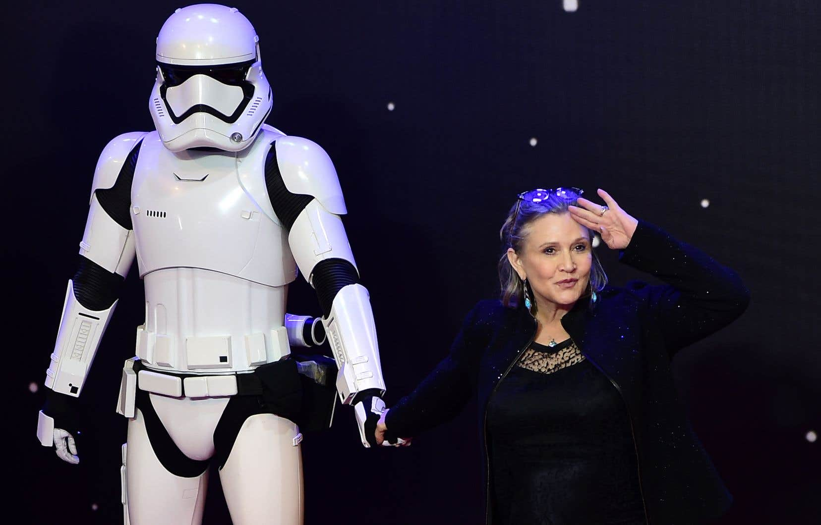 L'actrice Carrie Fisher en 2015