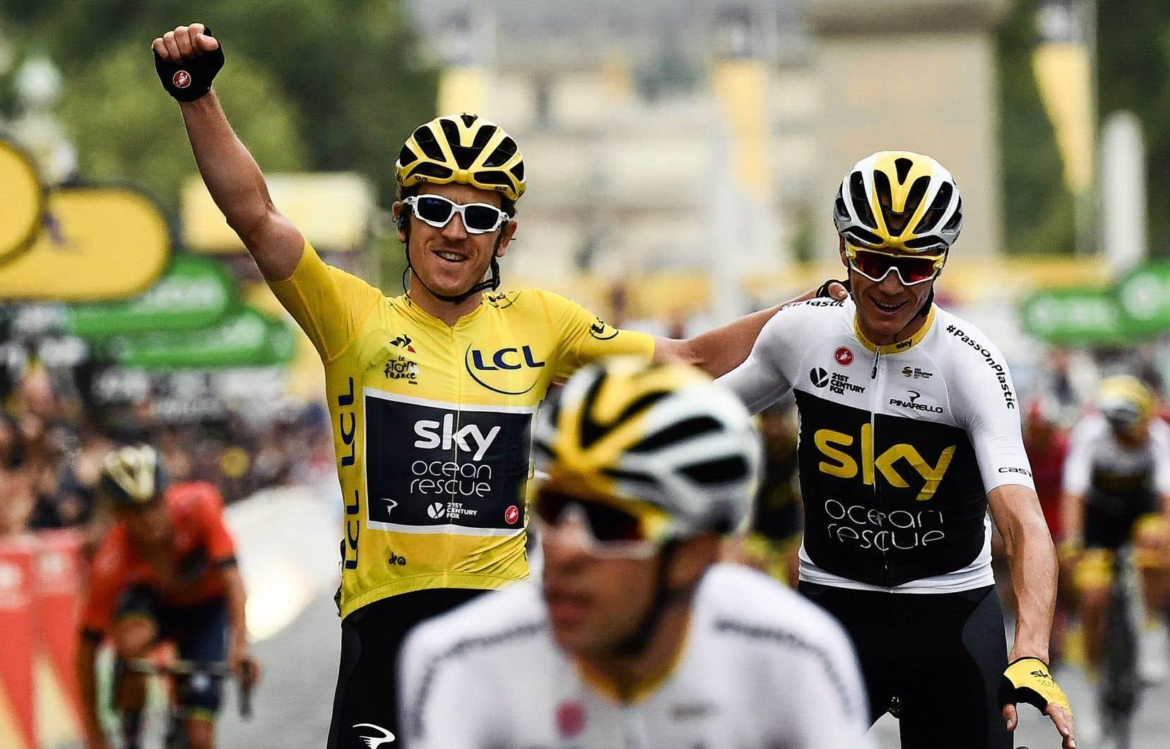Les coureurs de l'équipe Sky ont été intouchables sur les routes de France.