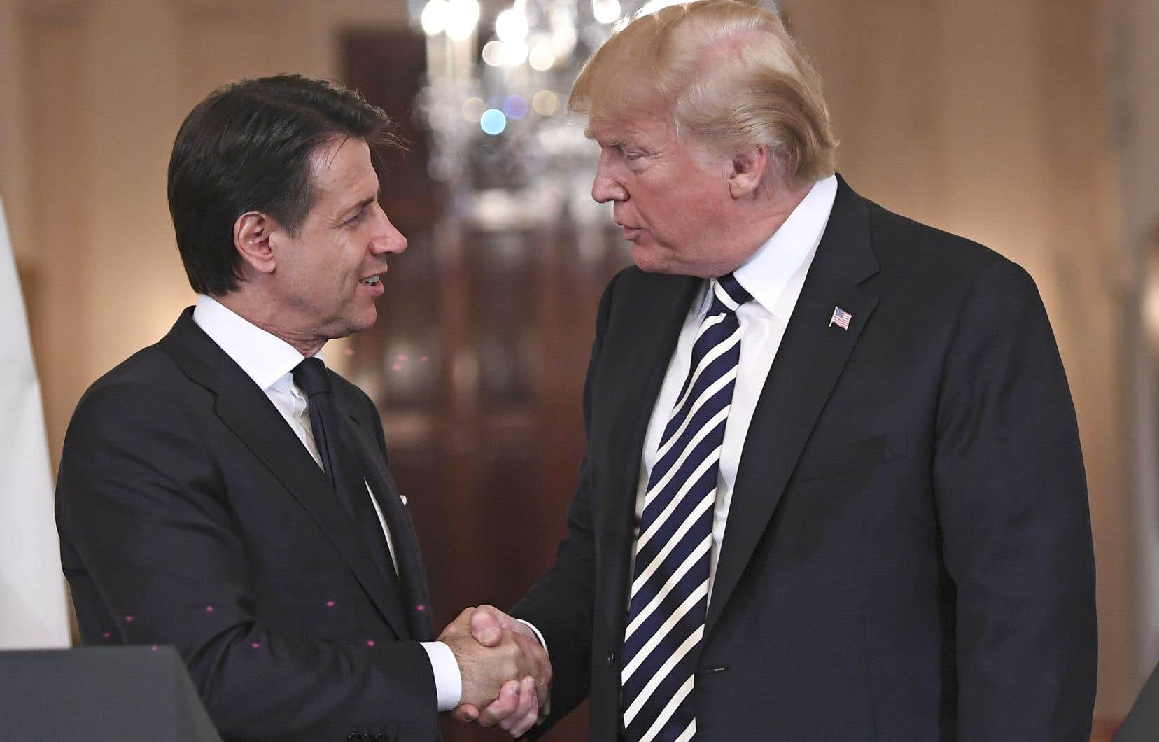 Le chef du gouvernement italien, Giuseppe Conte, était en visite à la Maison-Blanche lundi.