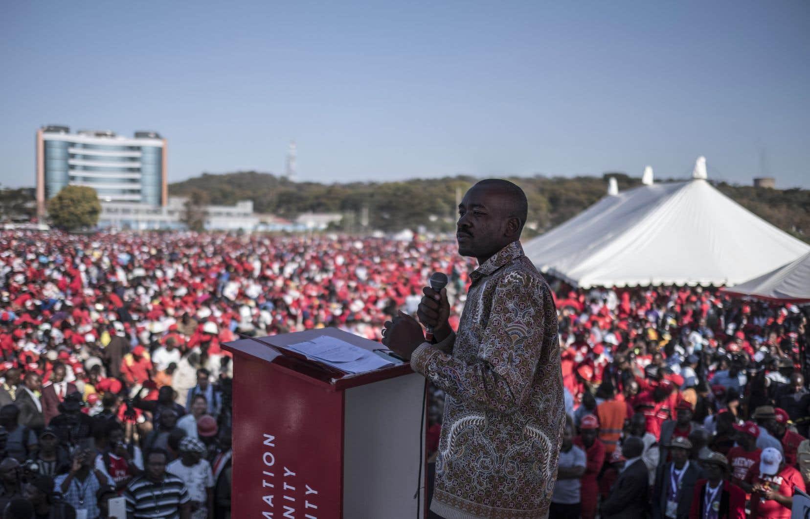 Le chef du Mouvement pour le changement démocratique (MDC), Nelson Chamisa