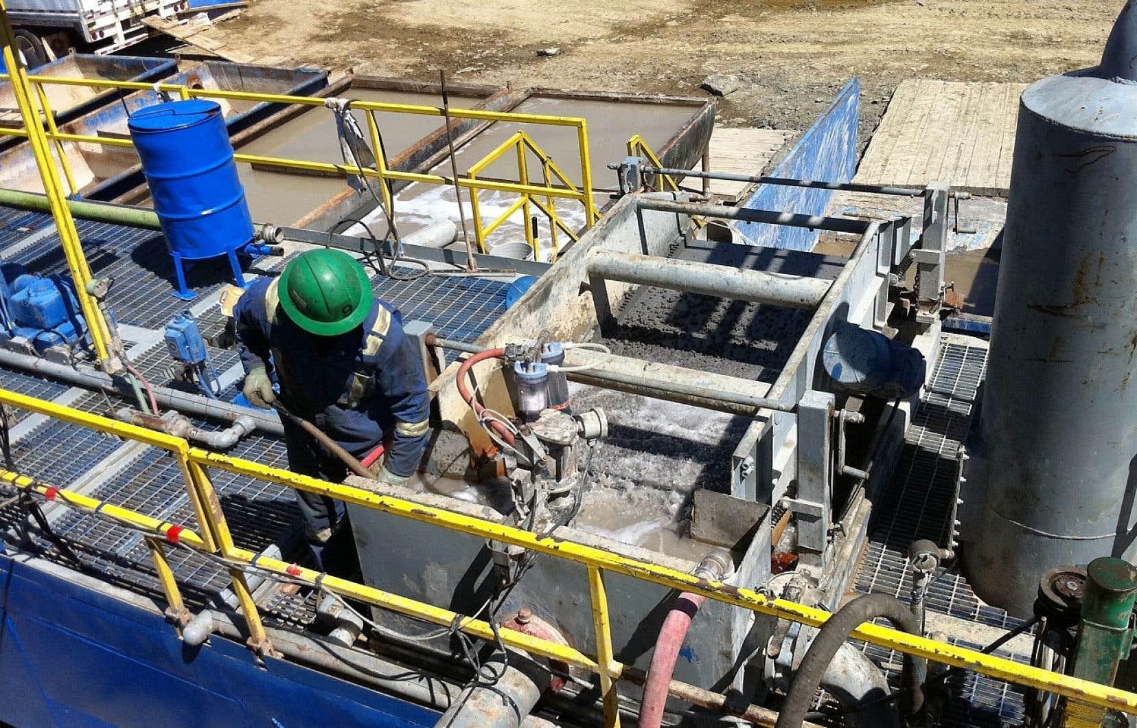Le puits d'exploration Galt 4 près de Gaspé