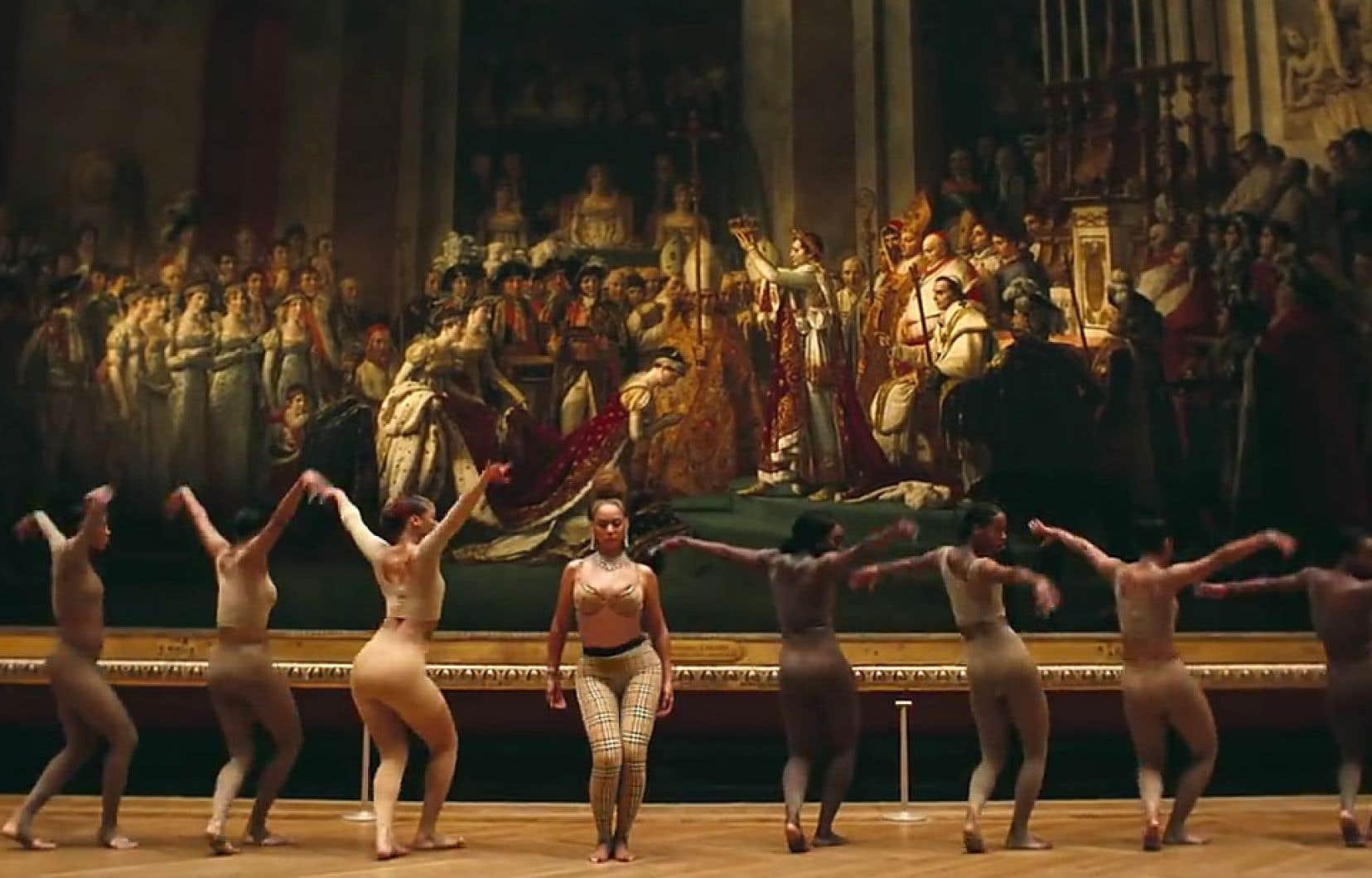 Une scène tirée du vidéoclip «Apesh**t», des Carters, filmé au Musée du Louvre à Paris