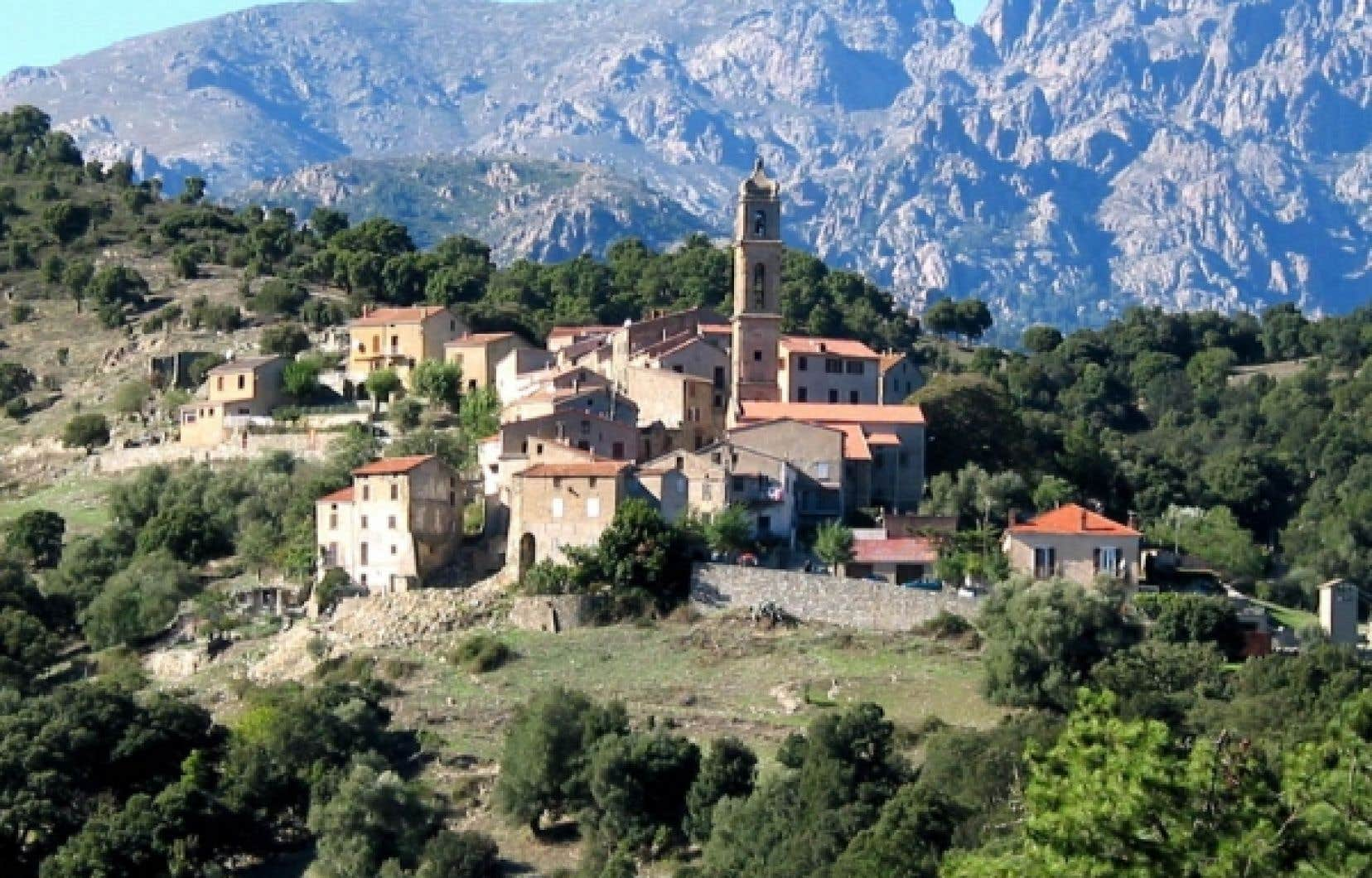 Le village de Soveria, en Corse.