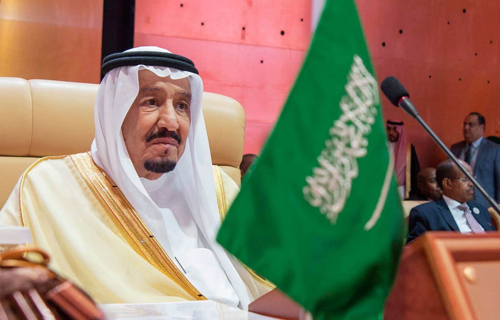 Le roi de l'Arabie Saoudite, Salam al-Saud