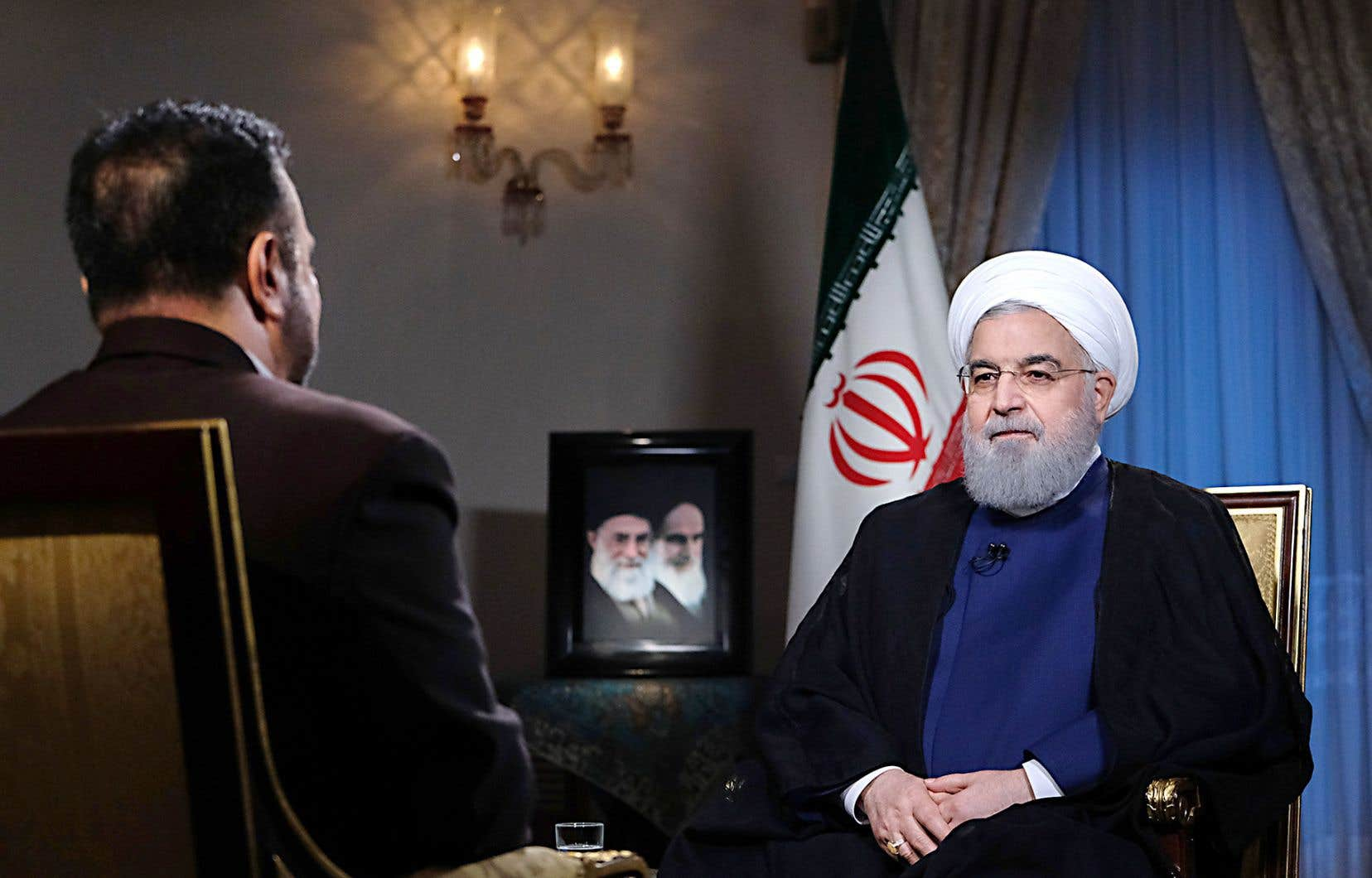 Le président iranien, Hassan Rohani, en entrevue télévisée, lundi