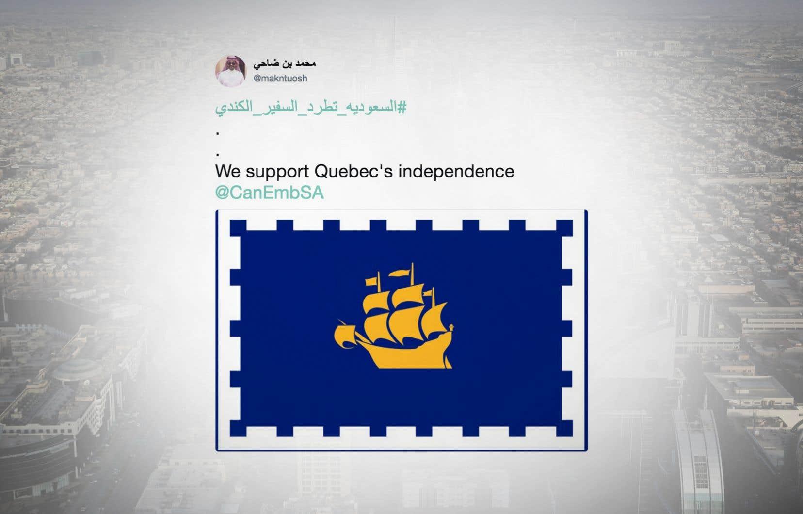 Un des messages a été affiché avec le drapeau de la ville de Québec plutôt que le fleurdelisé.