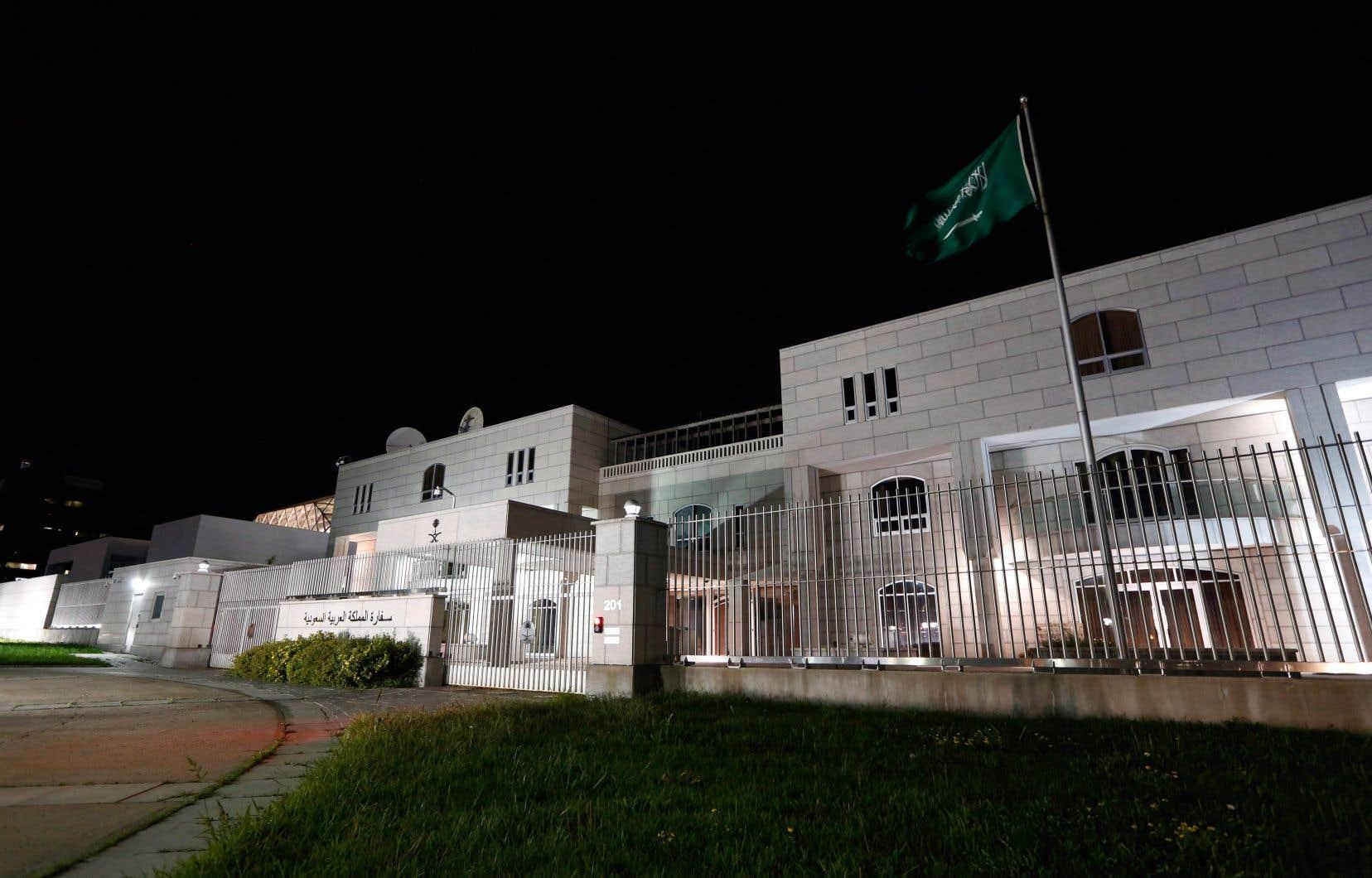 L'ambassade de l'Arabie saoudite au Canada, à Ottawa