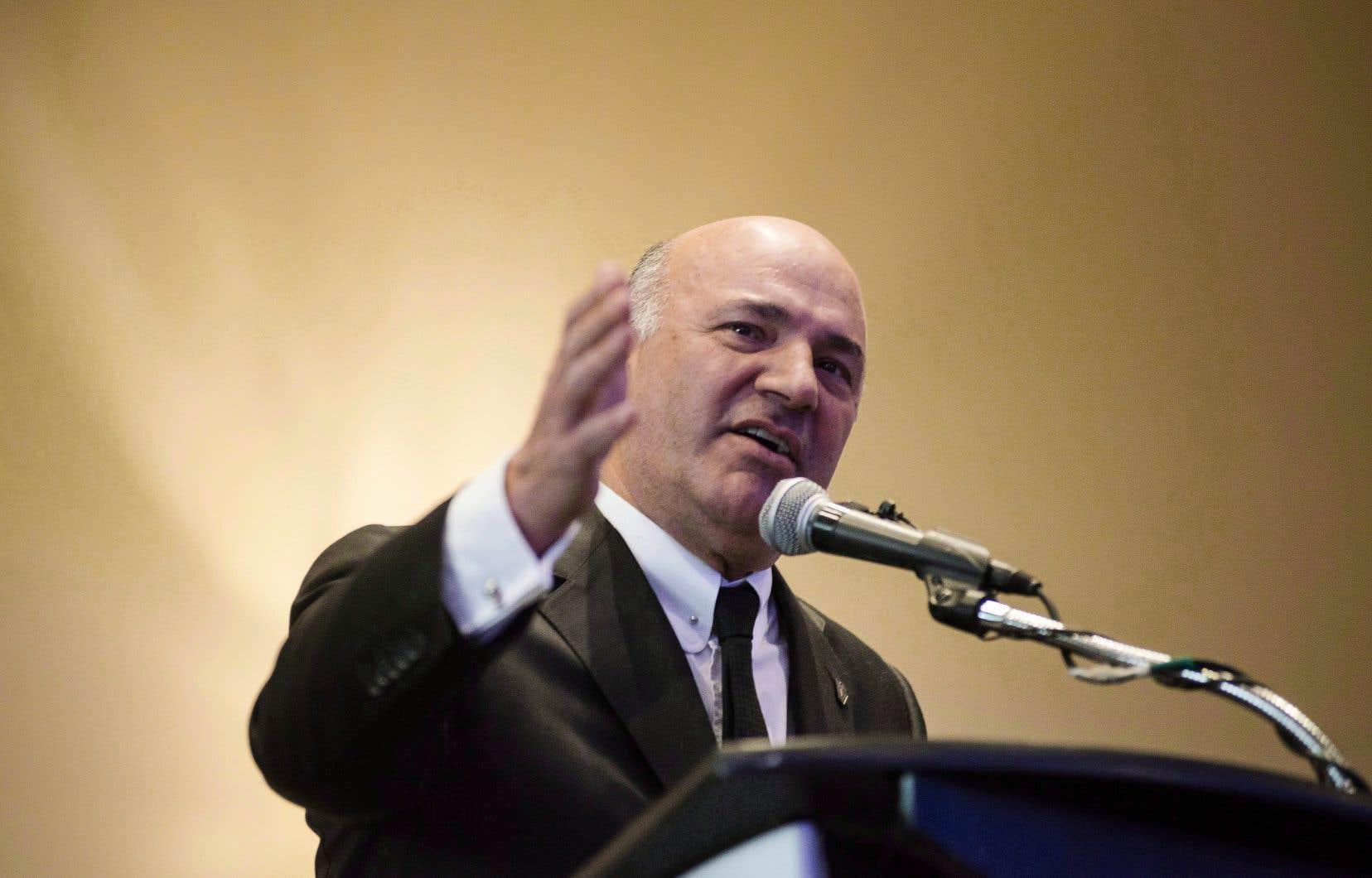 Kevin O'Leary, qui avait tenté de se faire élire chef du Parti conservateur en 2017, a encore deux ans pour rembourser 530000$.