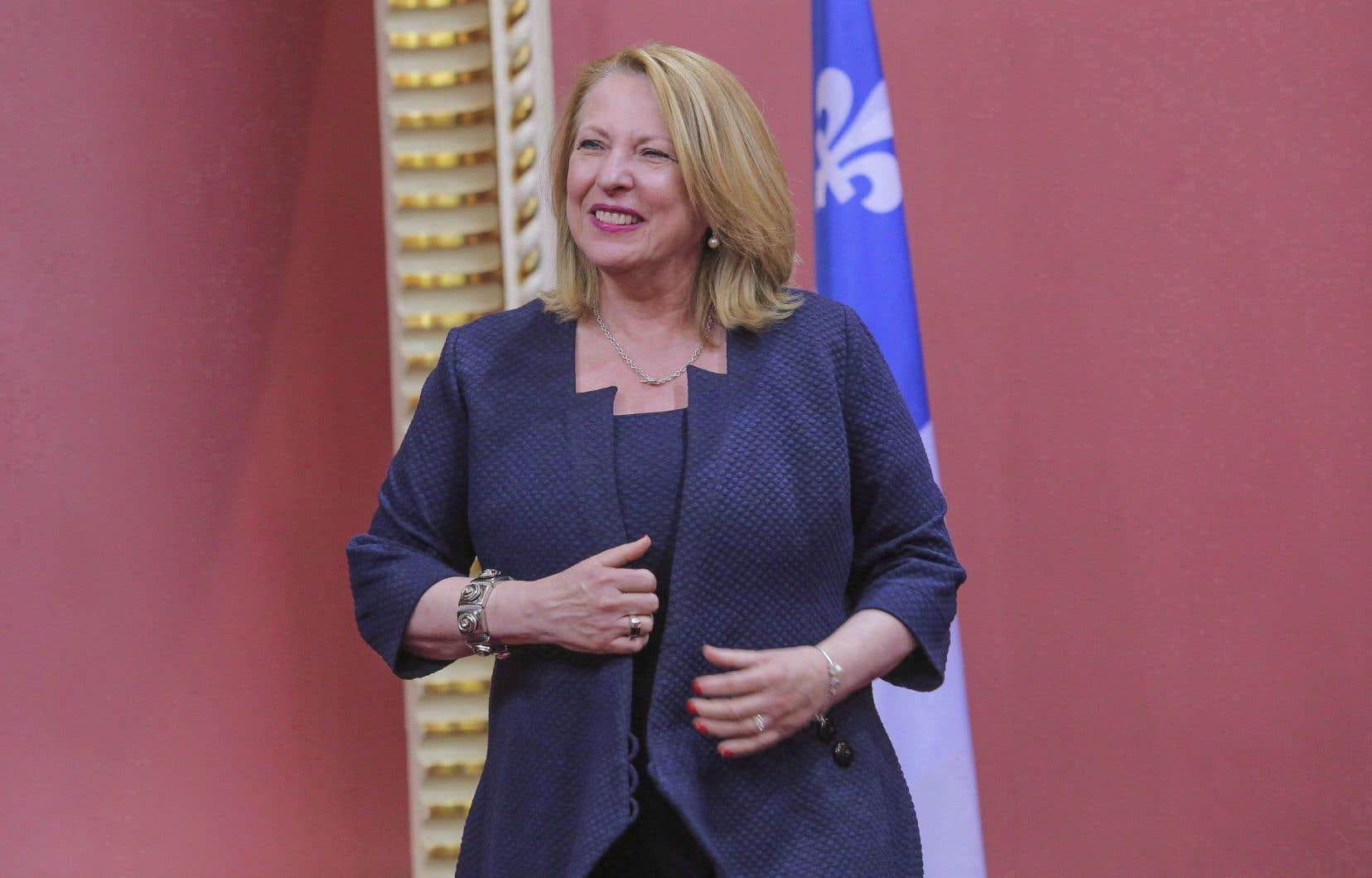 «Nous allons toujours faire la promotion des libertés individuelles et la promotion de l'égalité entre les hommes et les femmes», a déclaré la ministre des Relations internationales, Christine St-Pierre.