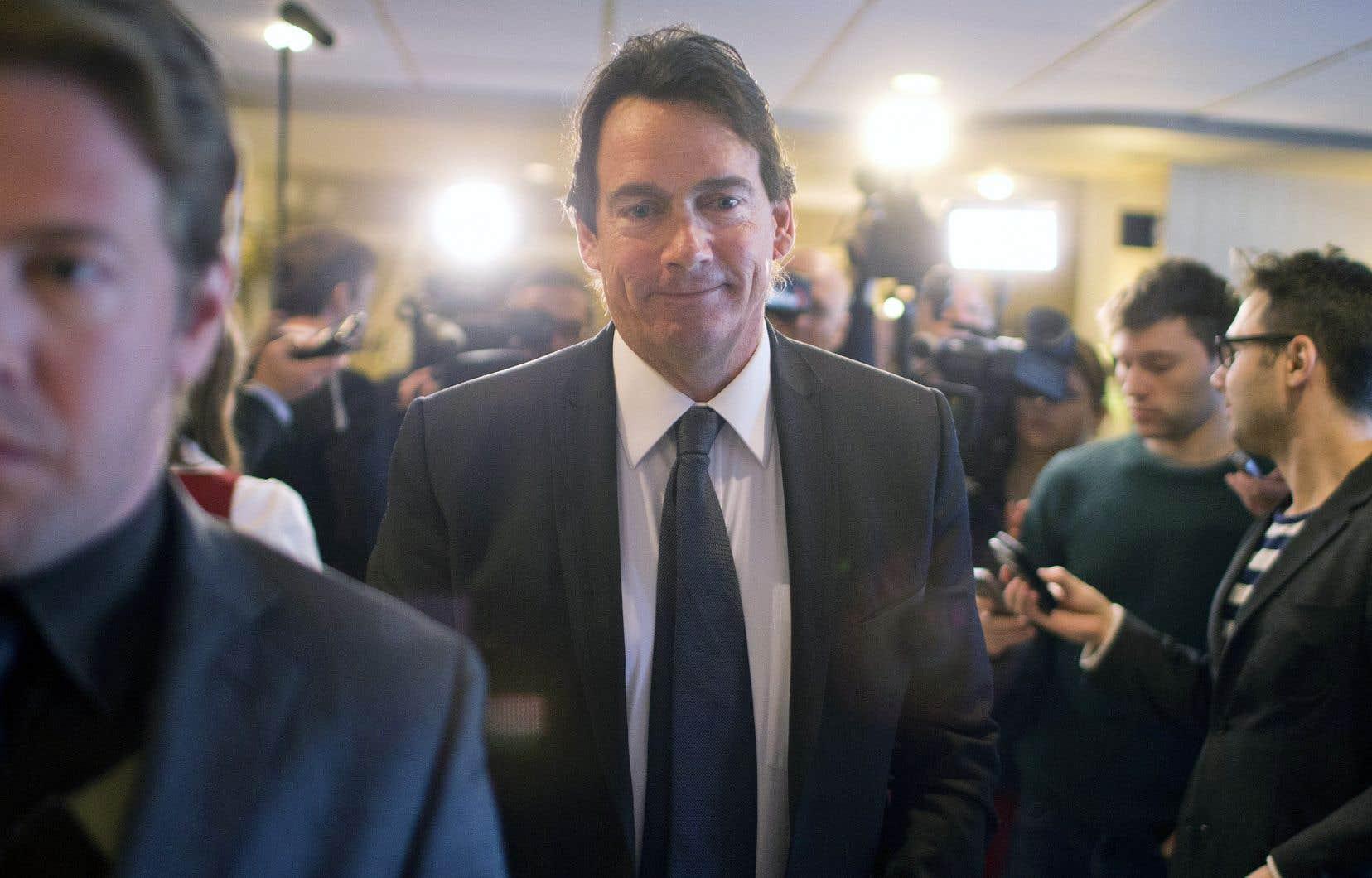 Pierre Karl Péladeau, alors candidat à la chefferie du Parti québécois en janvier 2015