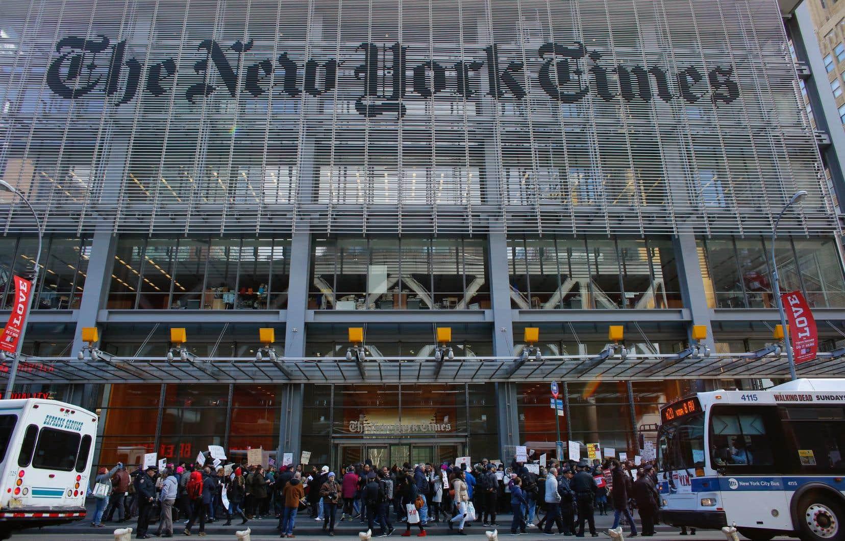 Depuis la fin 2016, après la campagne présidentielle américaine, une période faste pour le titre, le <em>New York Times</em> a gagné environ un million d'abonnés.
