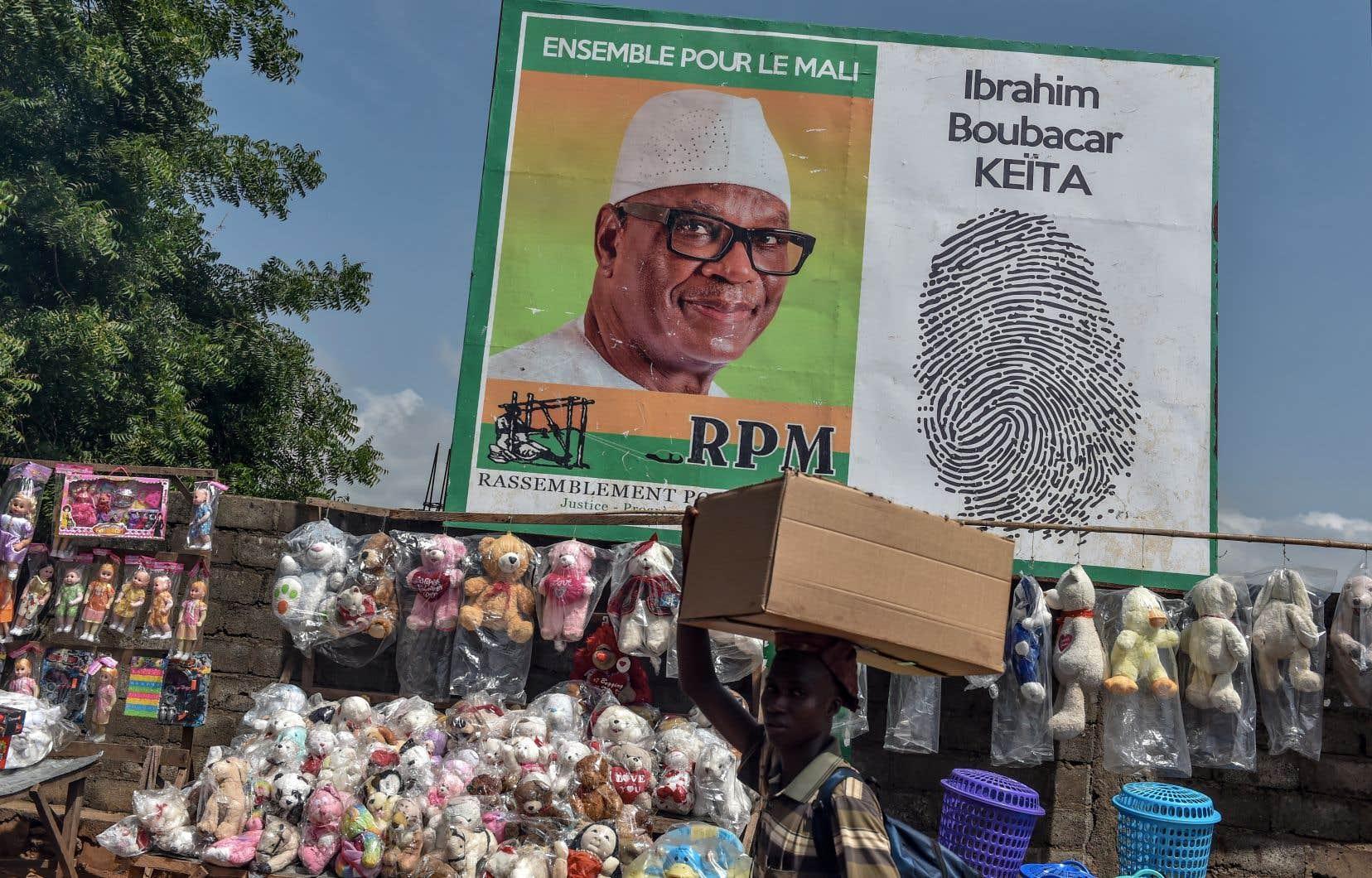 Le président malien sortant, Ibrahim Boubacar Keïta, termine largement en tête du premier tour, qui s'est tenu le 29 juillet, avec 41,70% des suffrages.