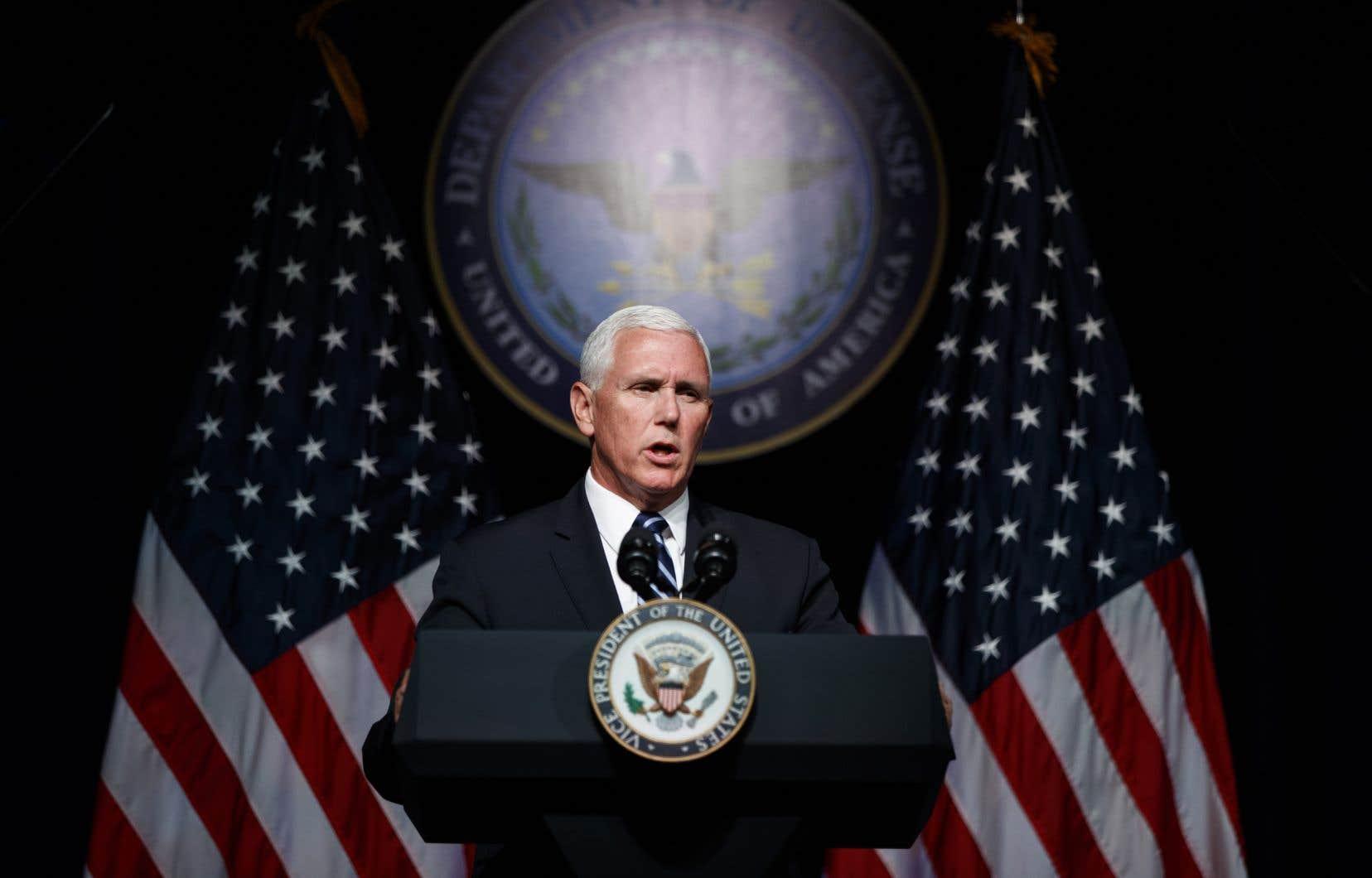 «L'espace a fondamentalement changé depuis une génération», a déclaré le vice-président américain, Mike Pence.