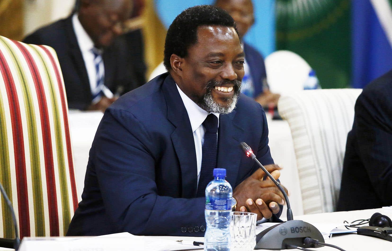 Joseph Kabila, photographié à Pretoria, en Afrique du Sud, en juin 2017