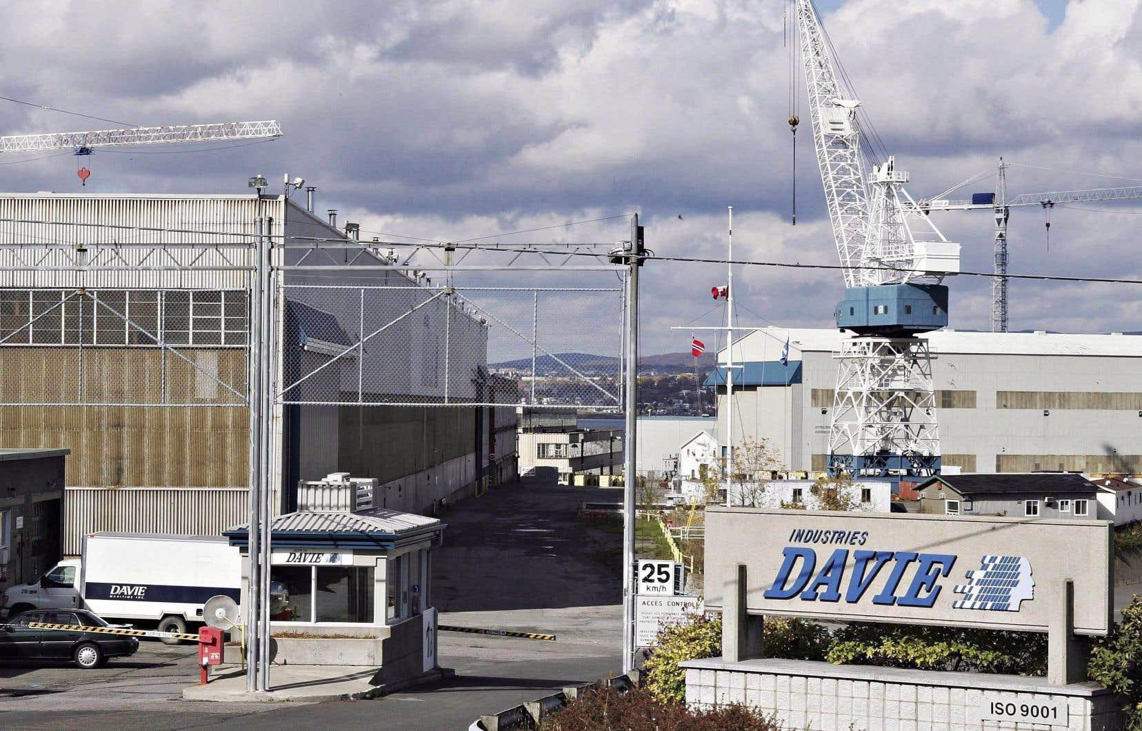 <p>Le chantier naval de la Daviesitué à Lévis</p>